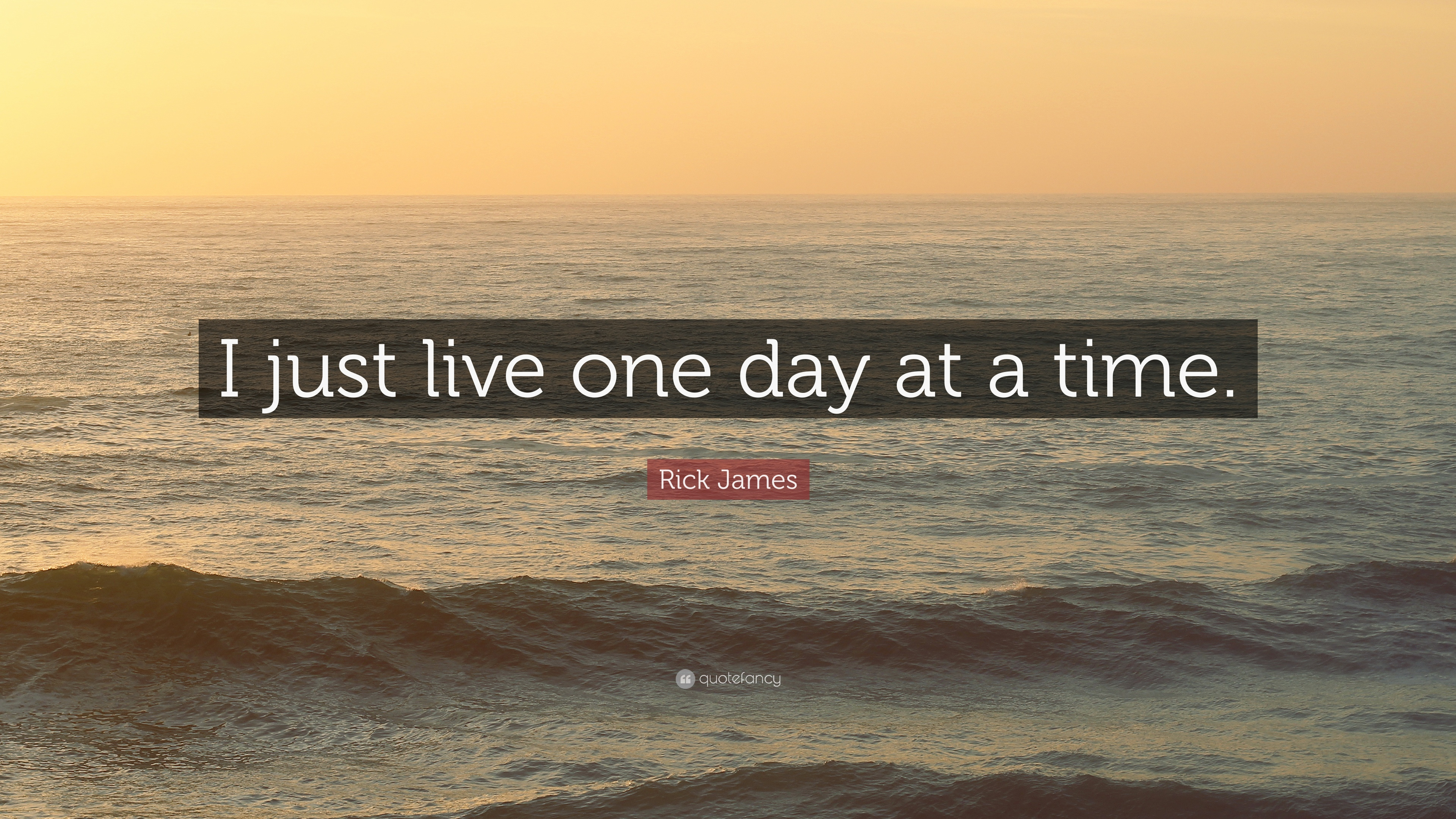 Rick James Quote I Just Live One Day At A Time 12 Wallpapers