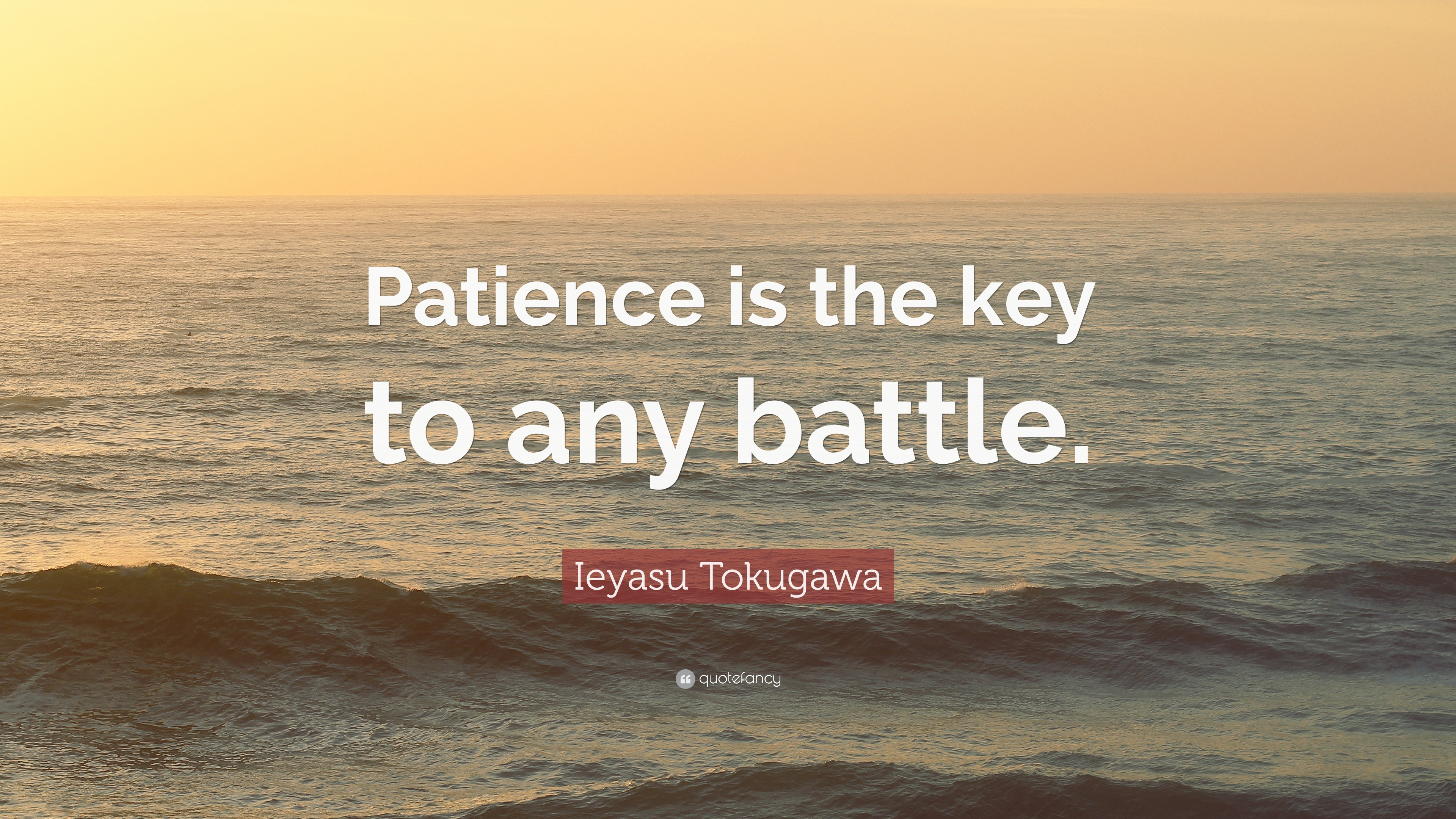 Ieyasu Tokugawa Quote Patience Is The Key To Any Battle 12