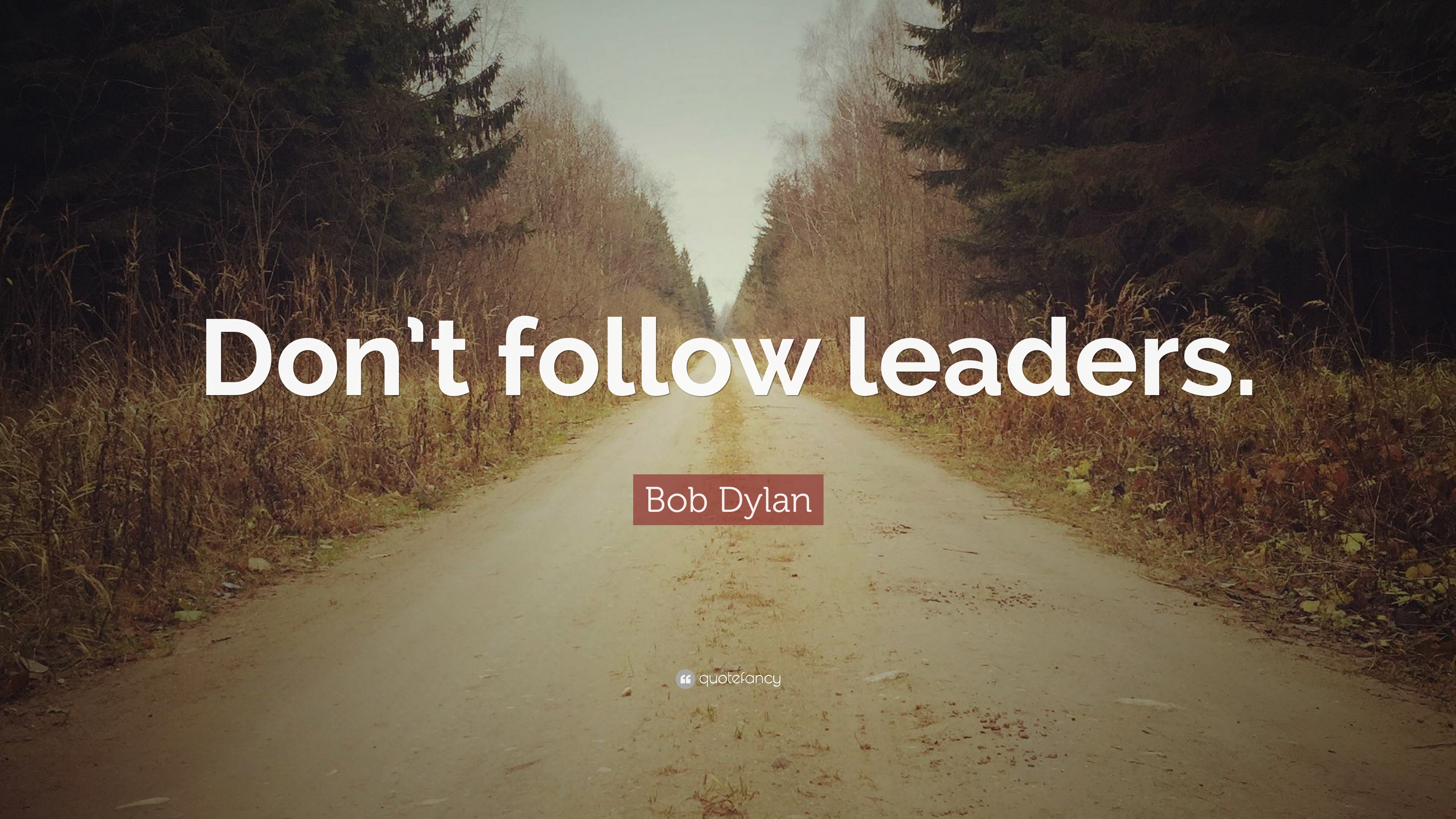 dont follow the leader essay The author is a forbes employees want to follow leaders who are less about the when a leader is only looking out for themselves and.
