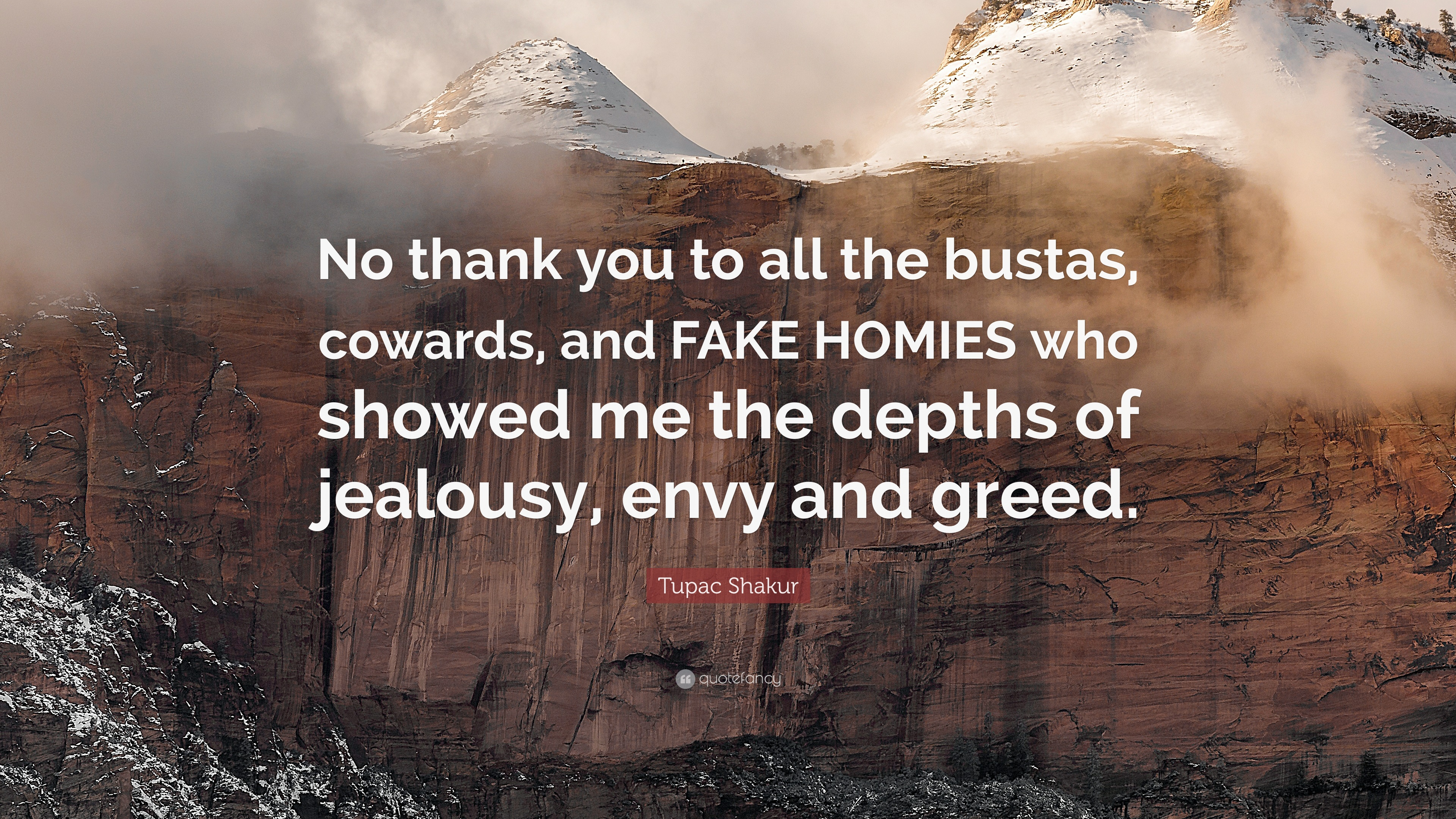 """Tupac Shakur Quote: """"No Thank You To All The Bustas"""