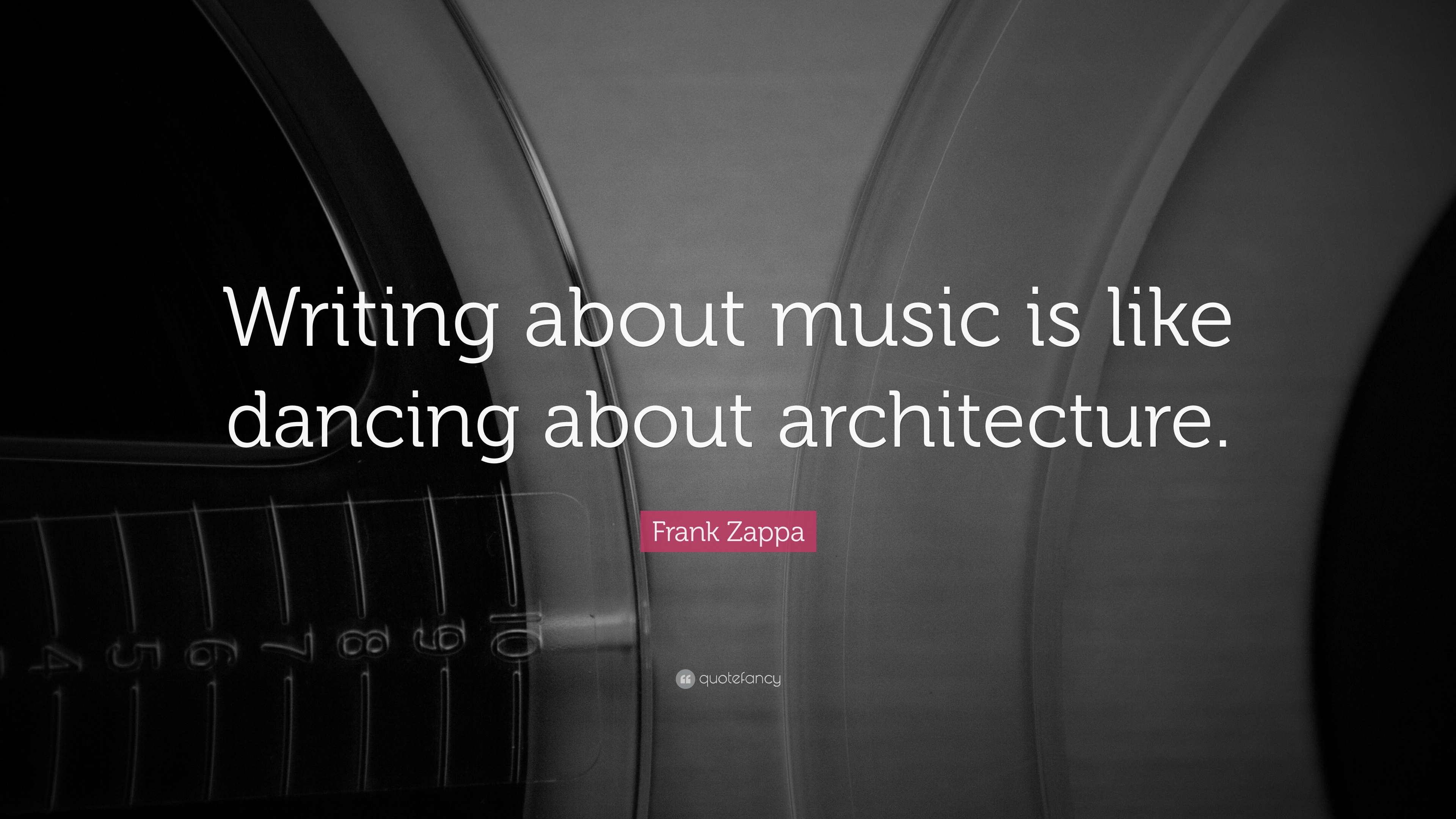 Writing about music is like