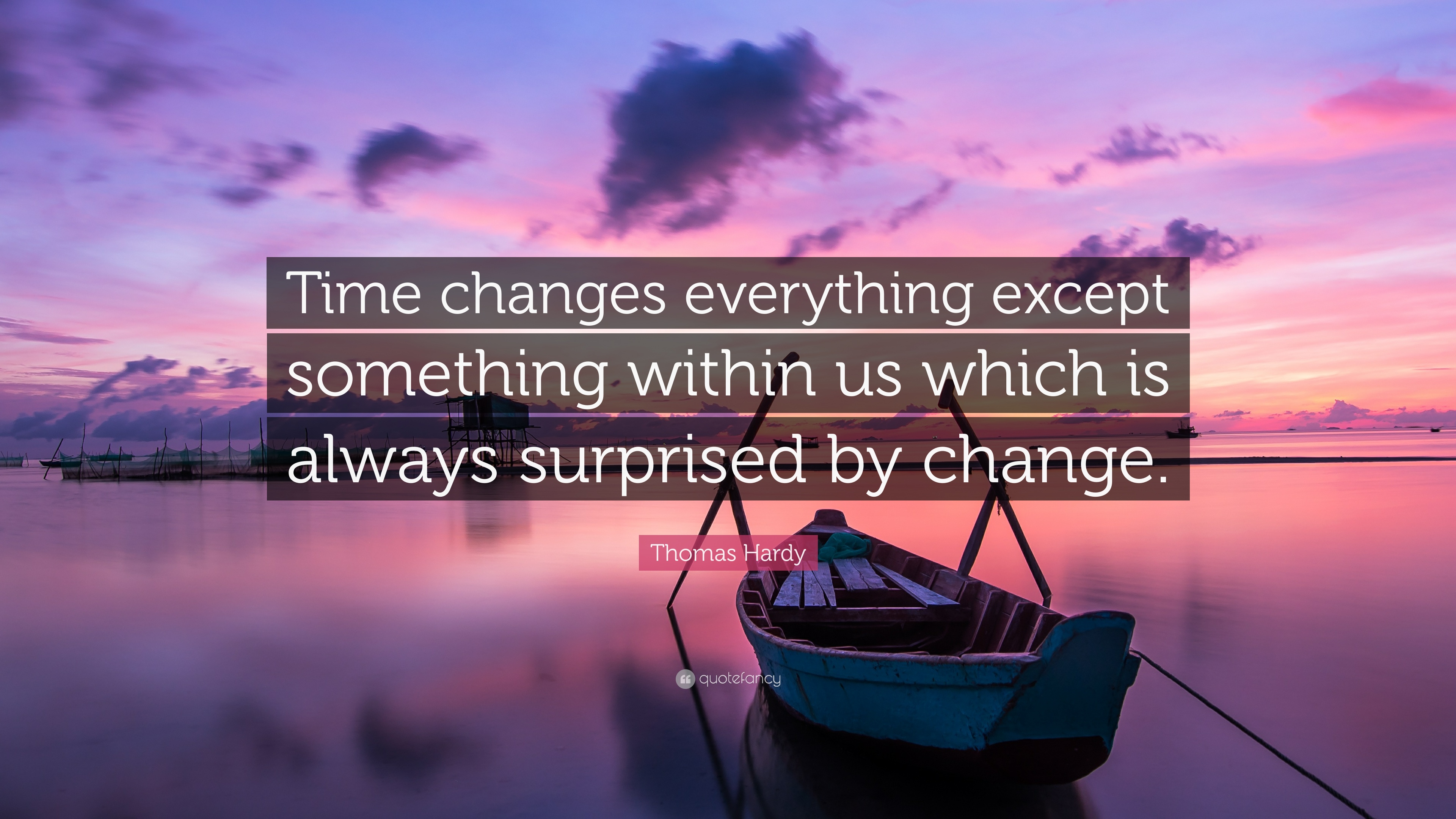 "Thomas Hardy Quote: ""Time changes everything except ..."