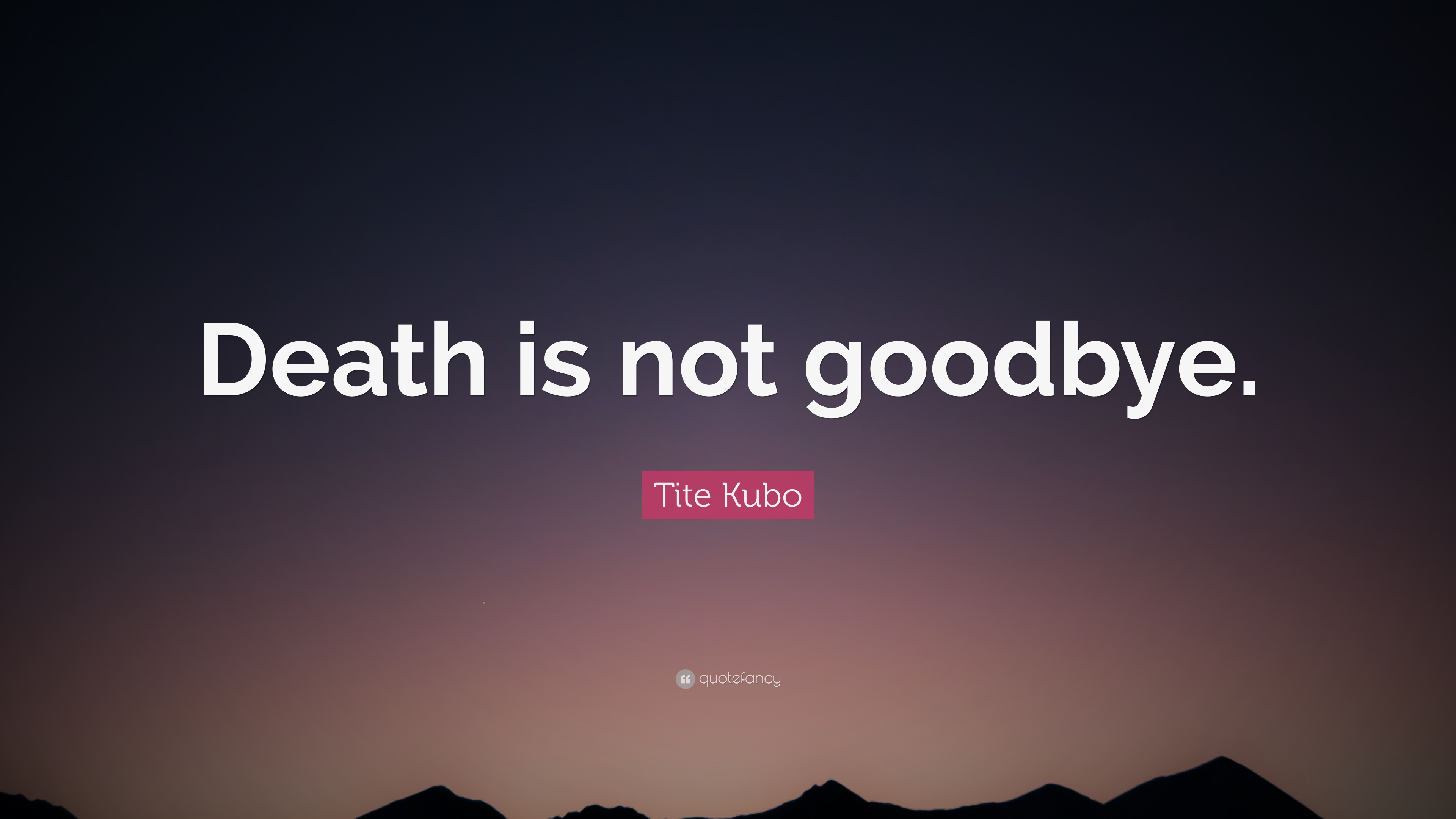 tite kubo quote death is not goodbye