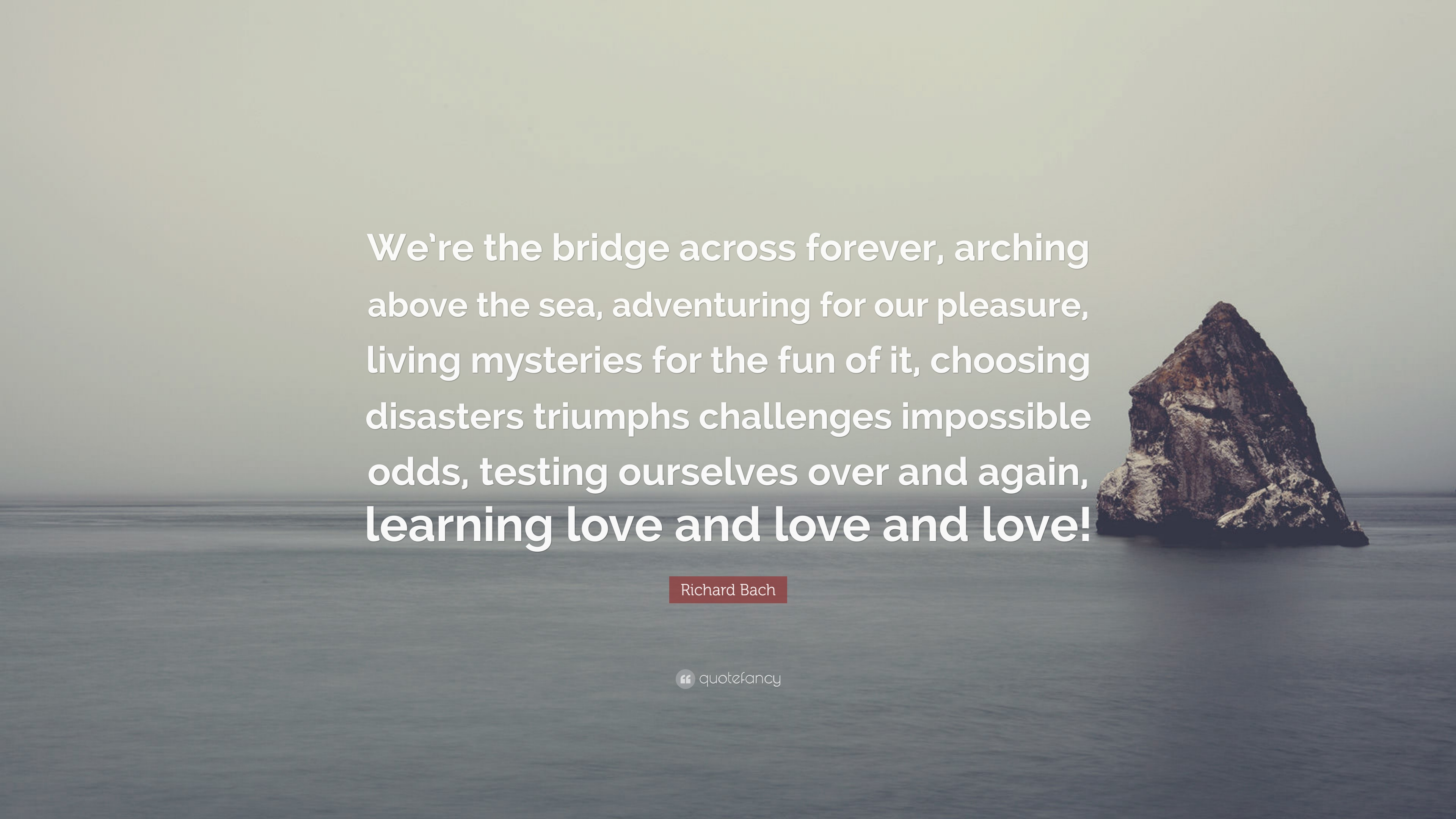 Richard Bach Quote We Re The Bridge Across Forever Arching Above