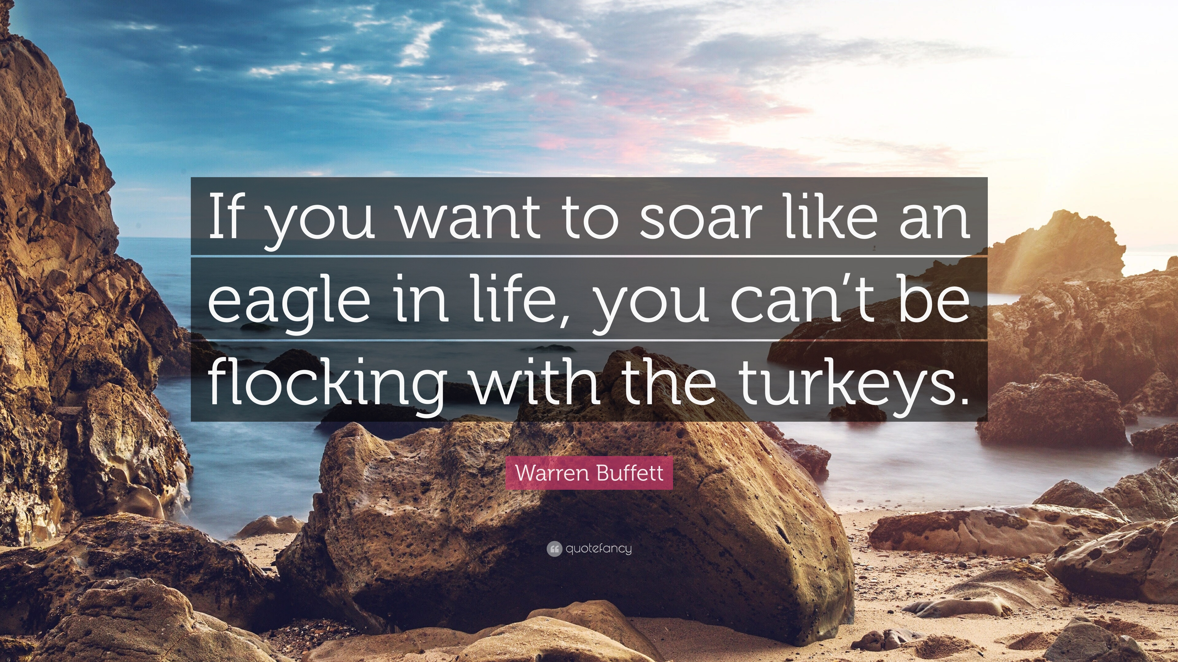 Warren Buffett Quote If You Want To Soar Like An Eagle In Life