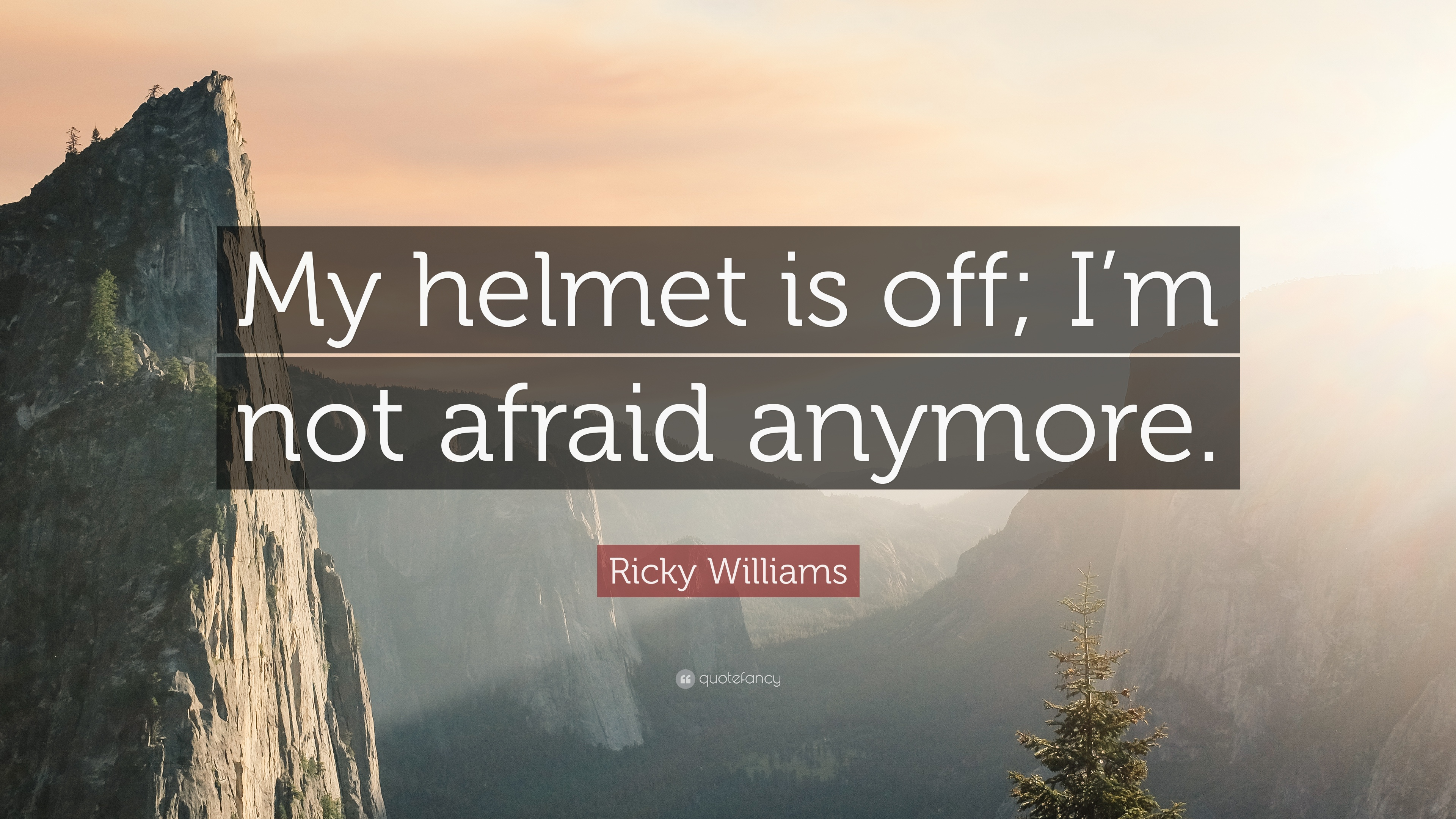 Ricky Williams Quote My Helmet Is Off Im Not Afraid Anymore