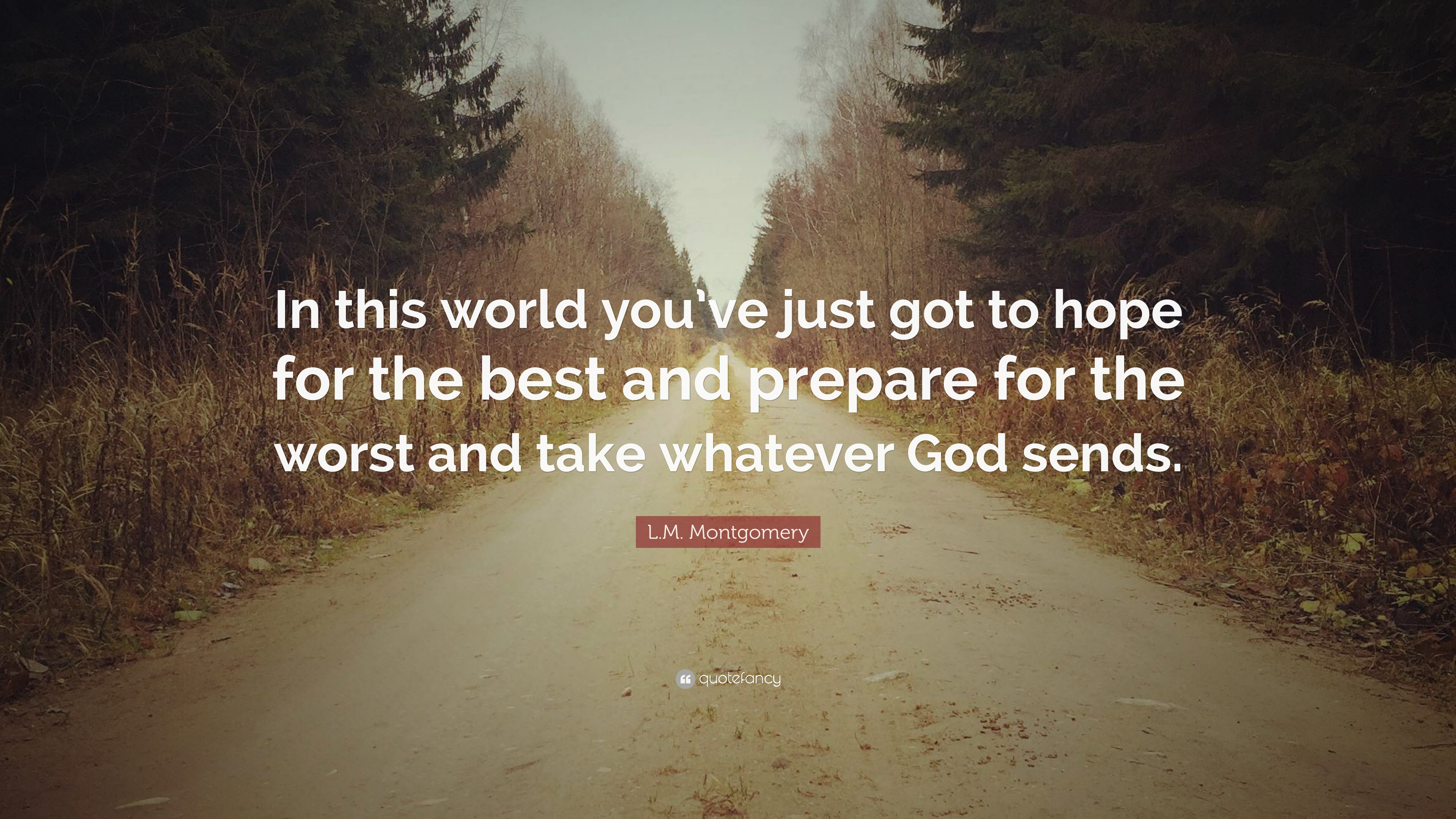 Lm Montgomery Quote In This World Youve Just Got To Hope For