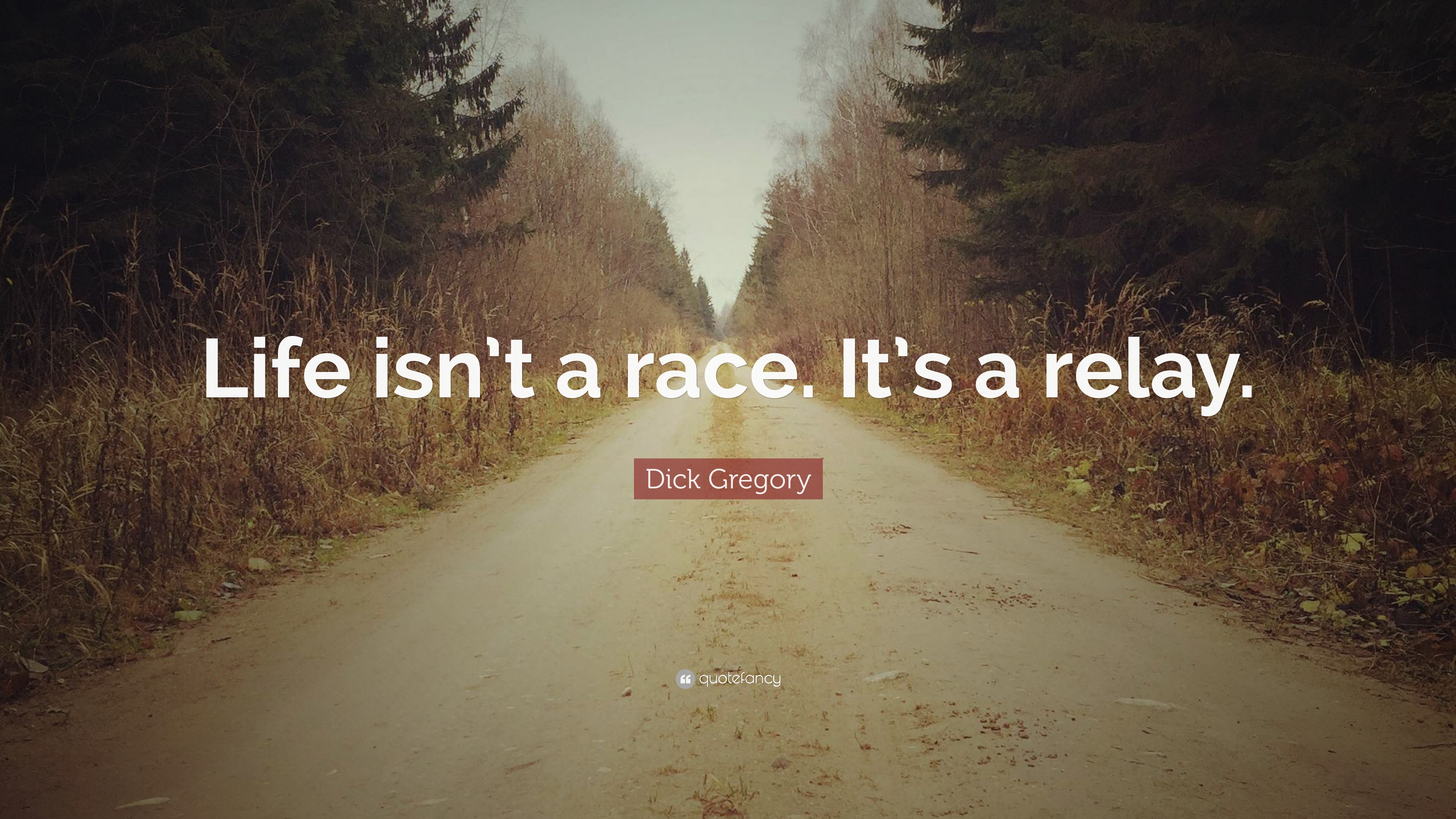 Dick Gregory Quote Life Isnt A Race Its A Relay 10