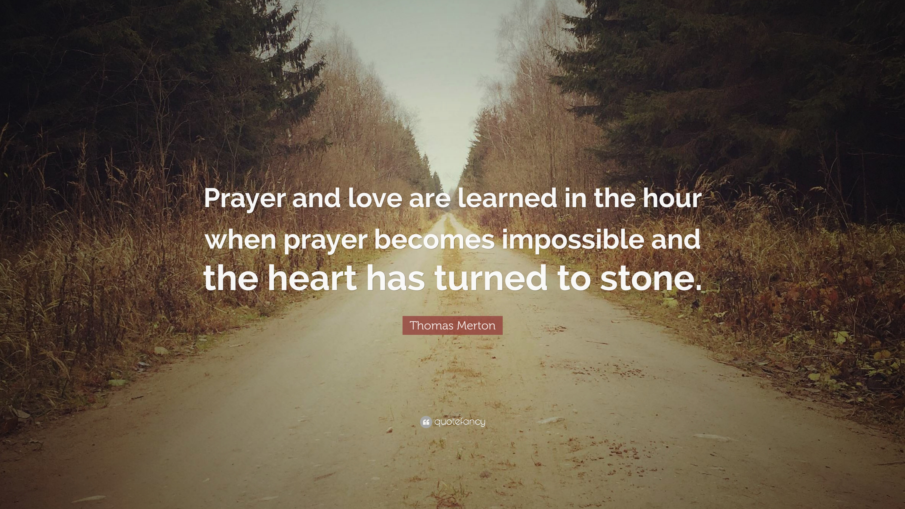 Thomas merton quote prayer and love are learned in the hour when thomas merton quote prayer and love are learned in the hour when prayer becomes thecheapjerseys Images