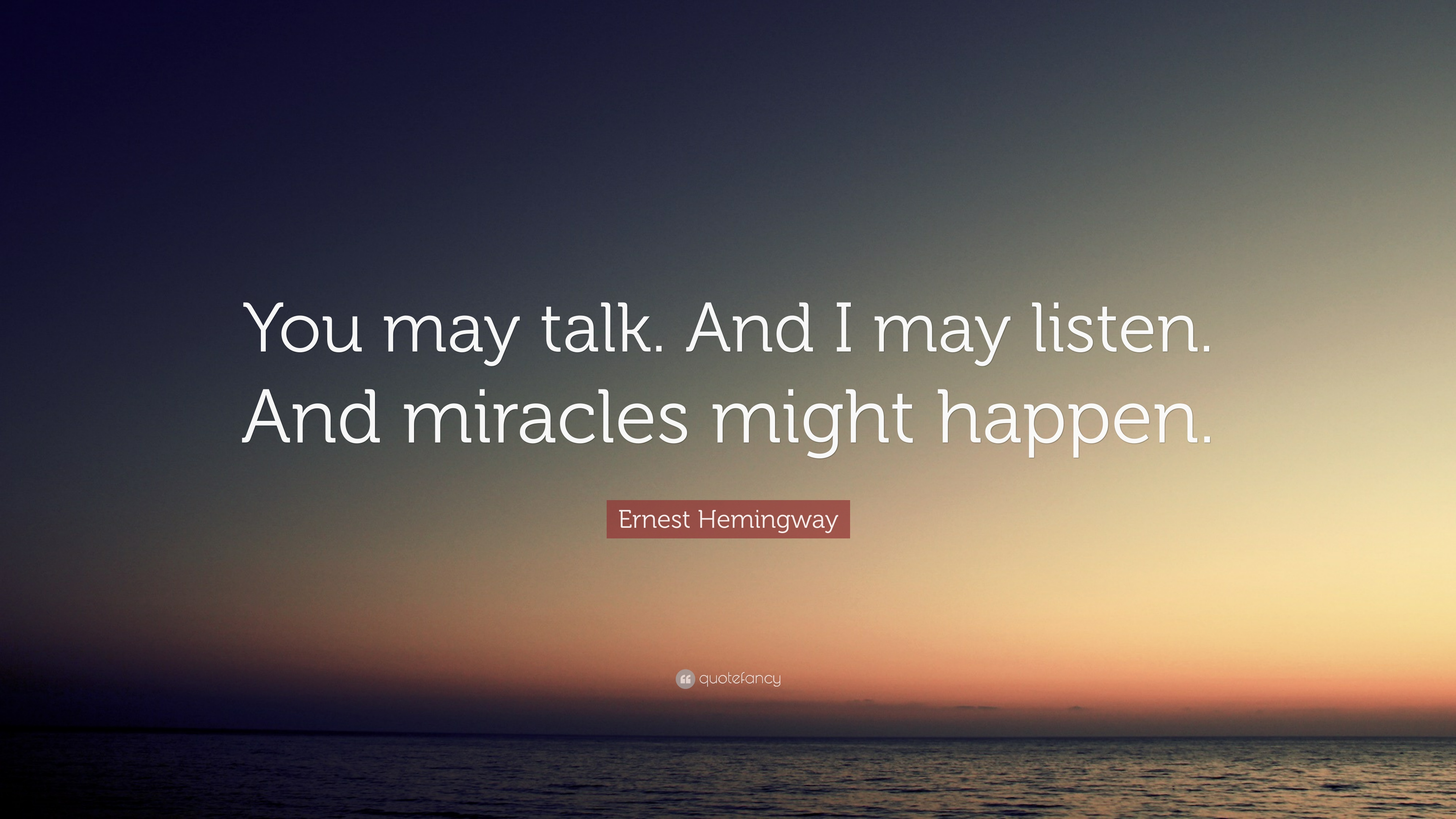 may i talk to you