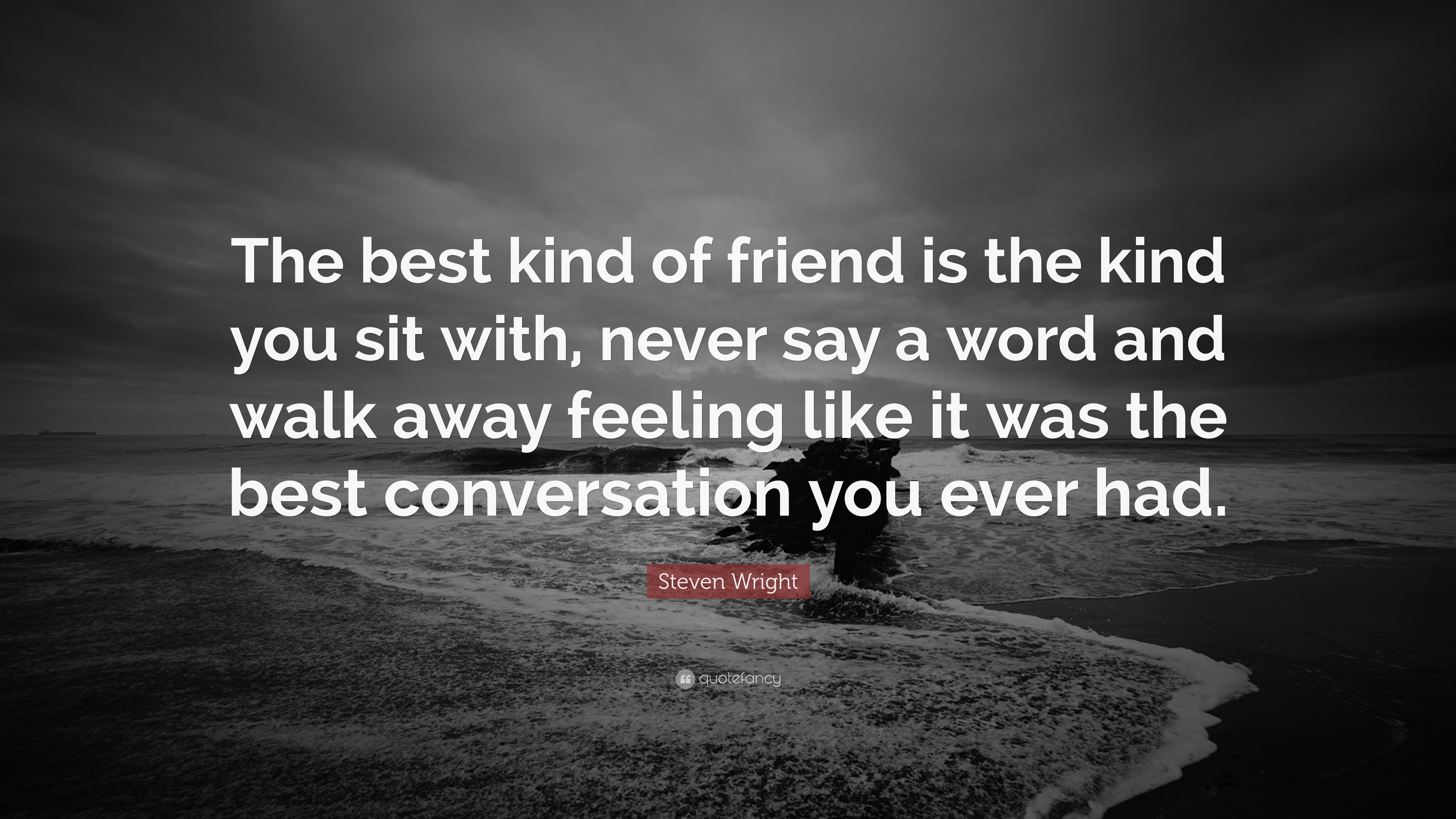 """Best Quotes Ever About Friendship Steven Wright Quote """"The Best Kind Of Friend Is The Kind You Sit"""