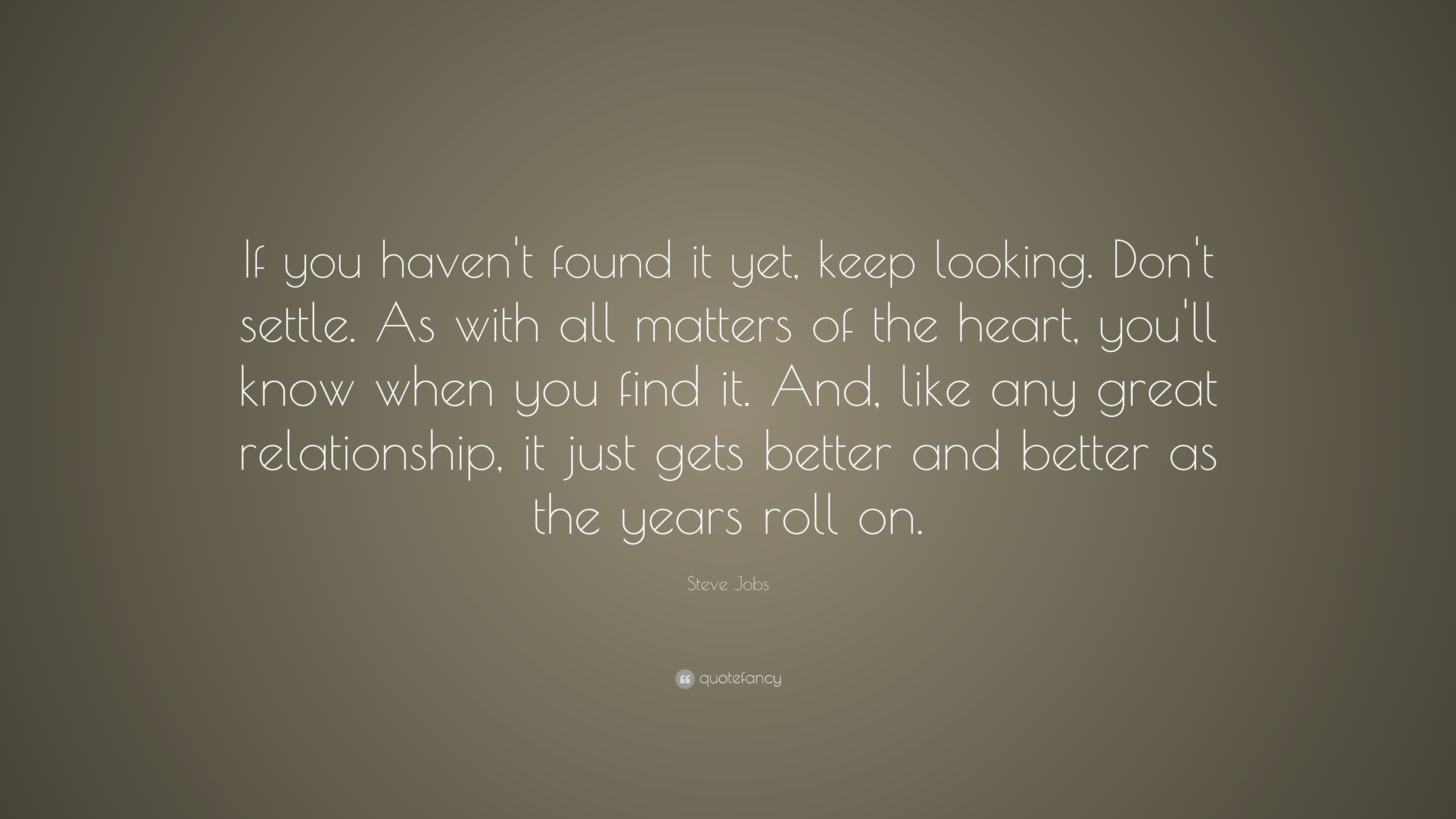 Delightful Steve Jobs Quote: U201cIf You Havenu0027t Found It Yet, Keep Looking