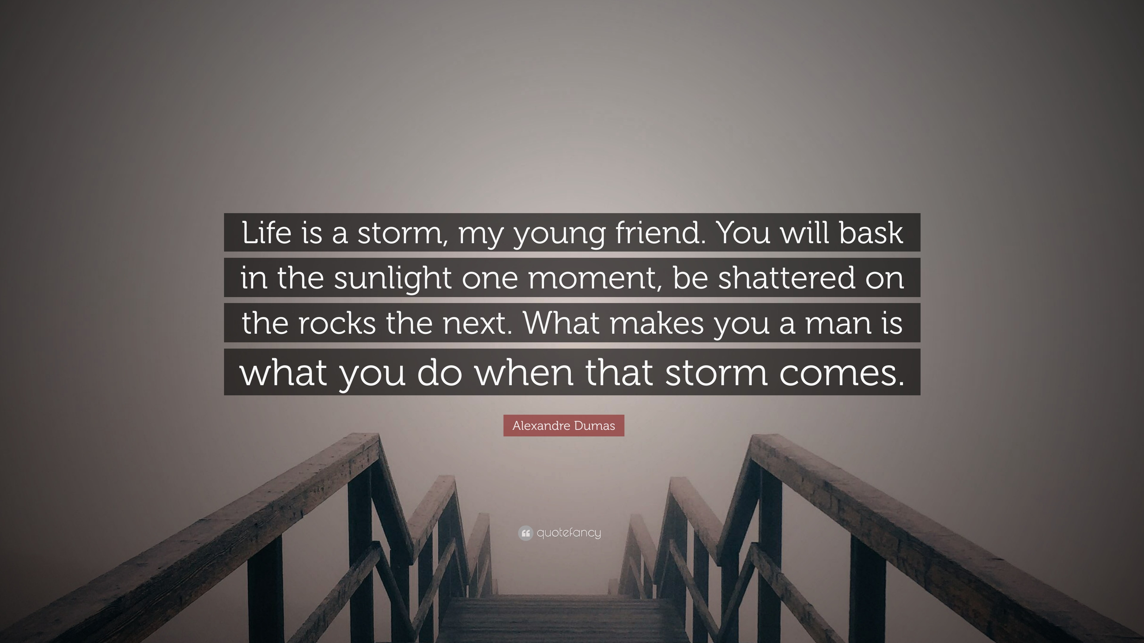 """Young Life Quotes Alexandre Dumas Quote """"Life Is A Storm My Young Friendyou Will"""