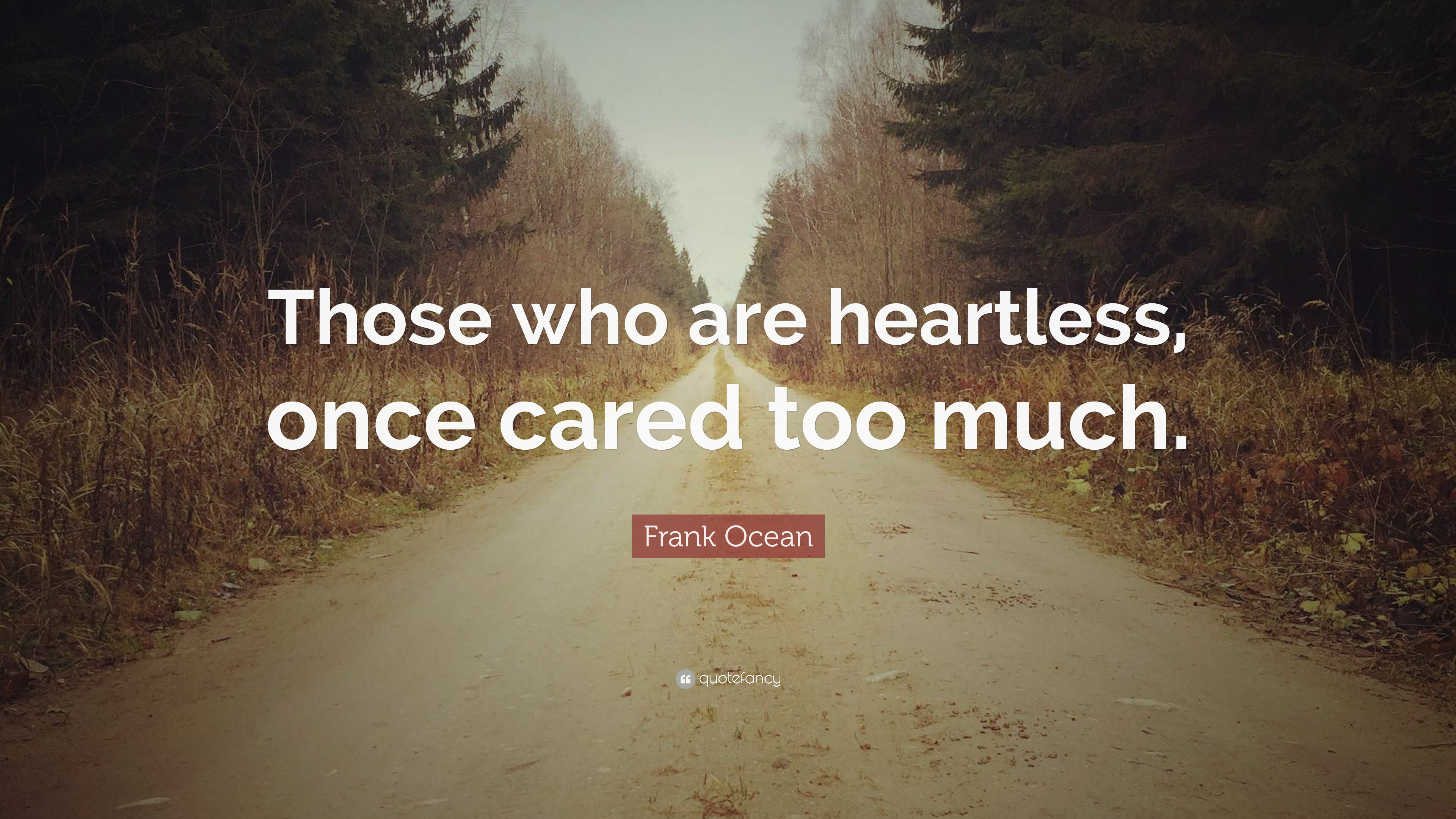 """Frank Ocean Quote: """"Those Who Are Heartless, Once Cared"""