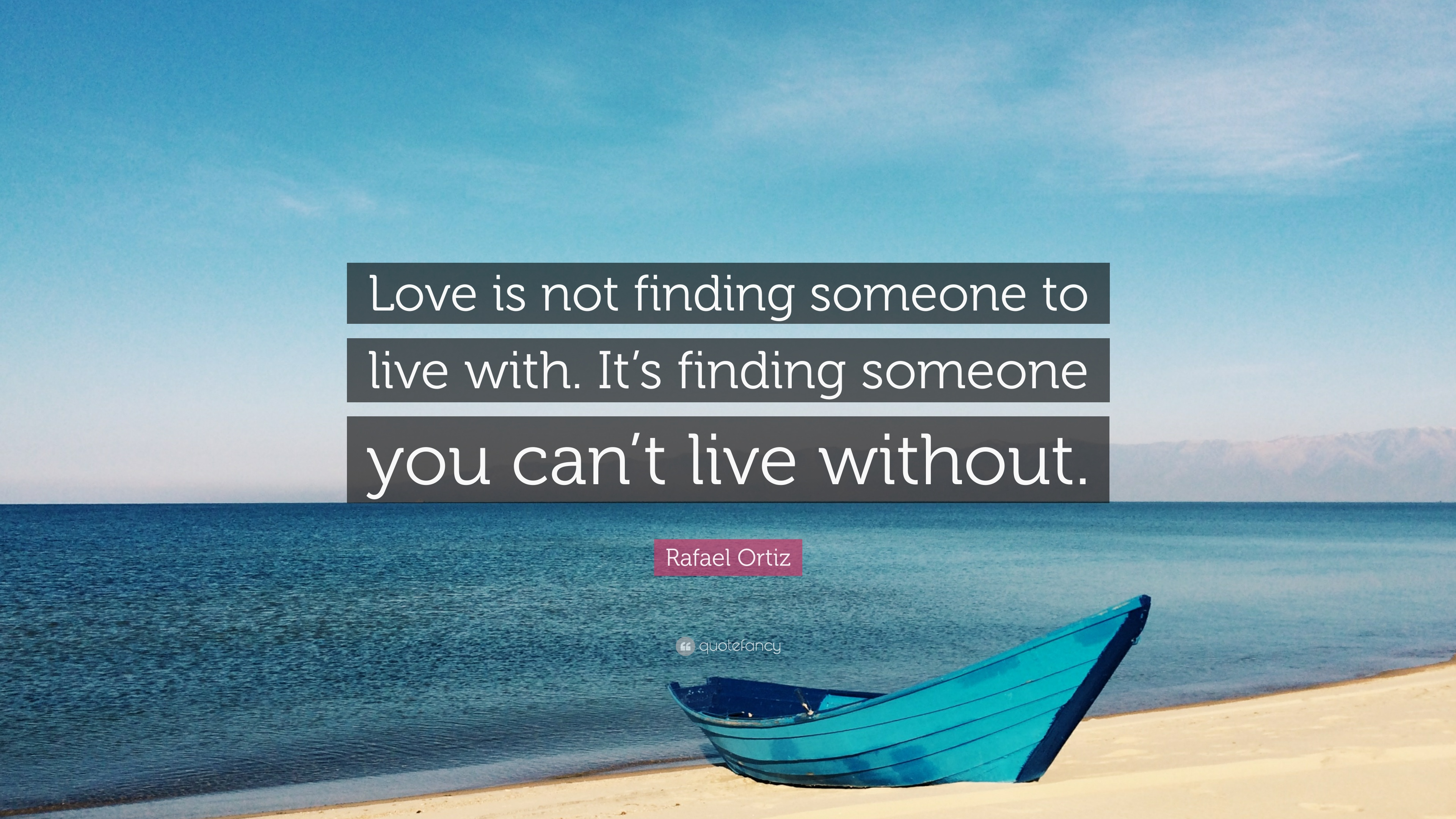 Love is finding someone