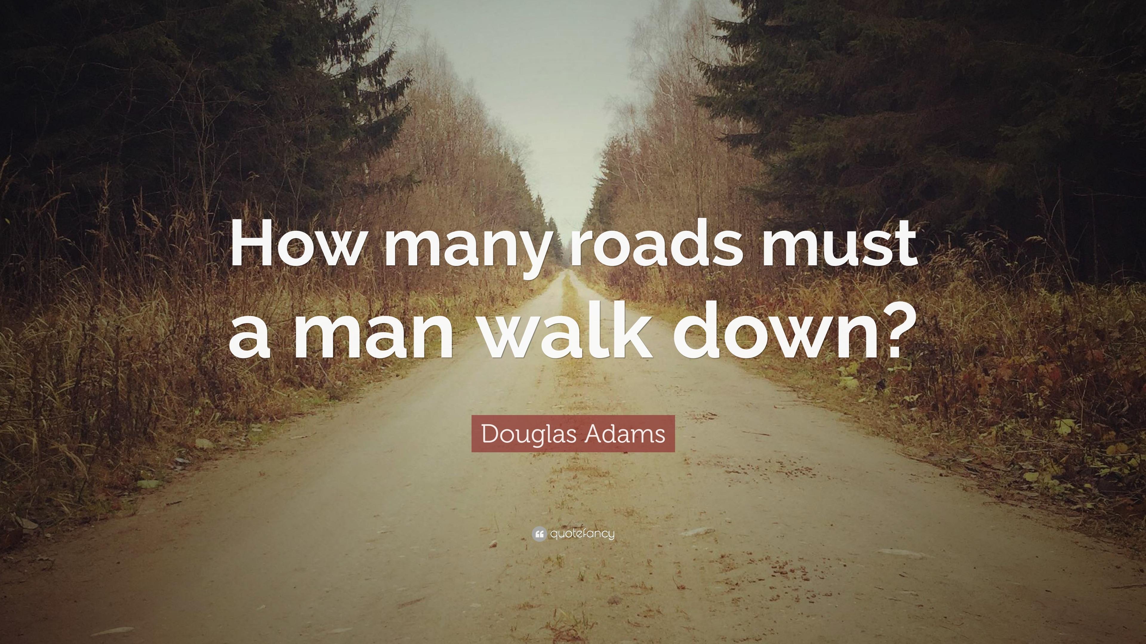 How Many Roads Must a Man Walk Down