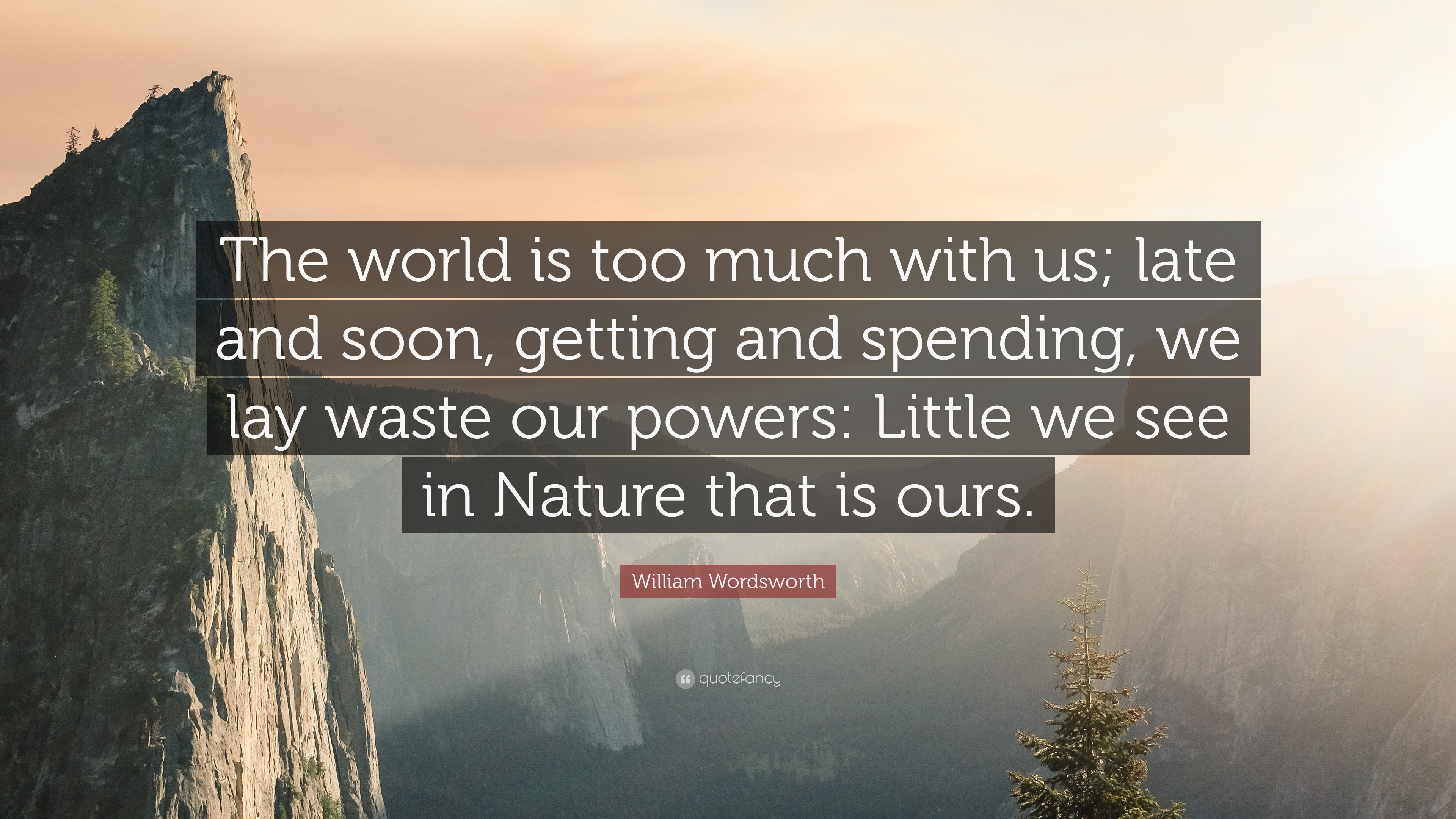 wordsworth nature is ours essay Quotations by william wordsworth, english poet getting and spending, we lay waste our powers: little we see in nature that is ours william wordsworth nature.