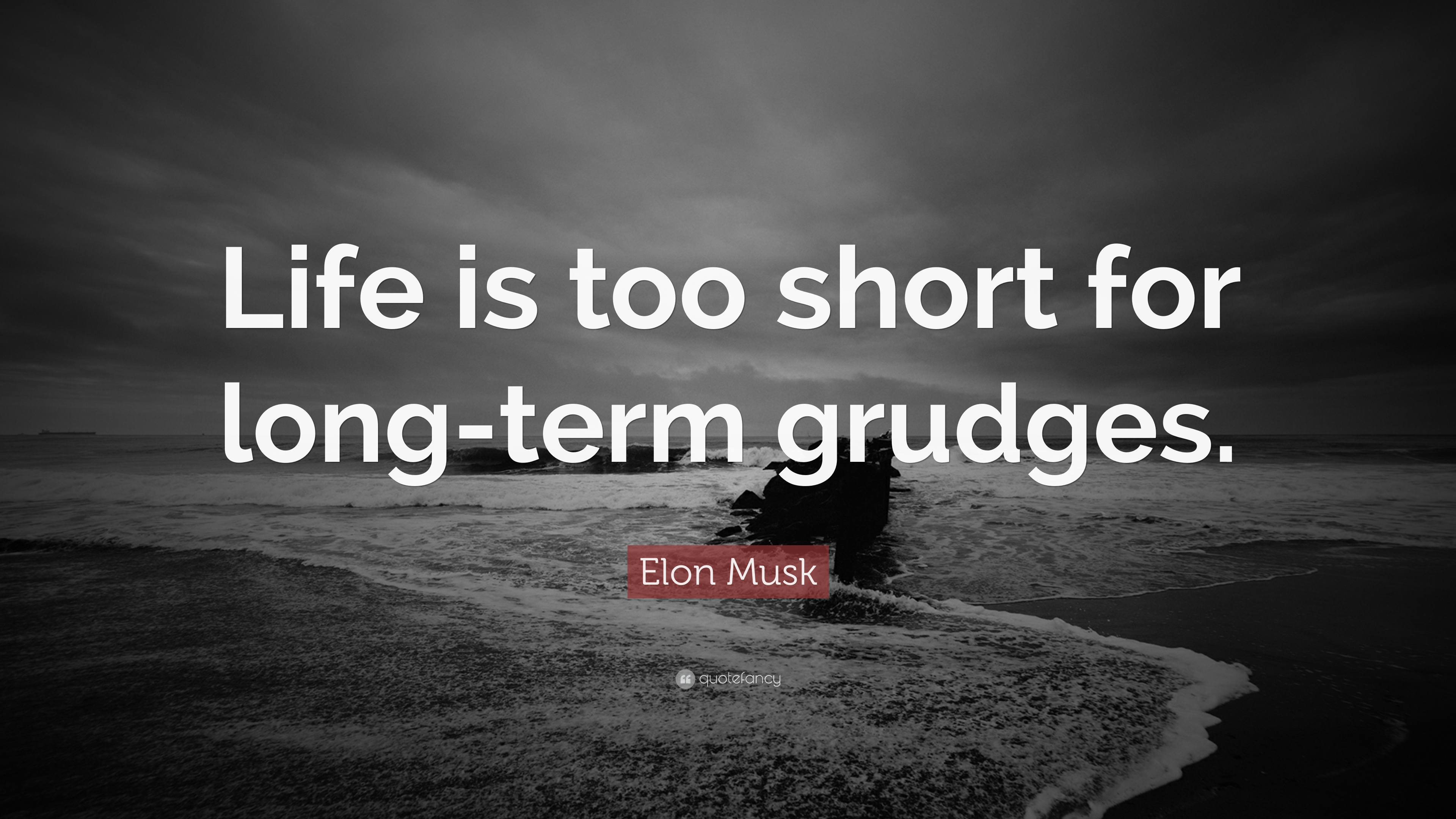 """Elon Musk Quote: """"Life Is Too Short For Long-term Grudges"""