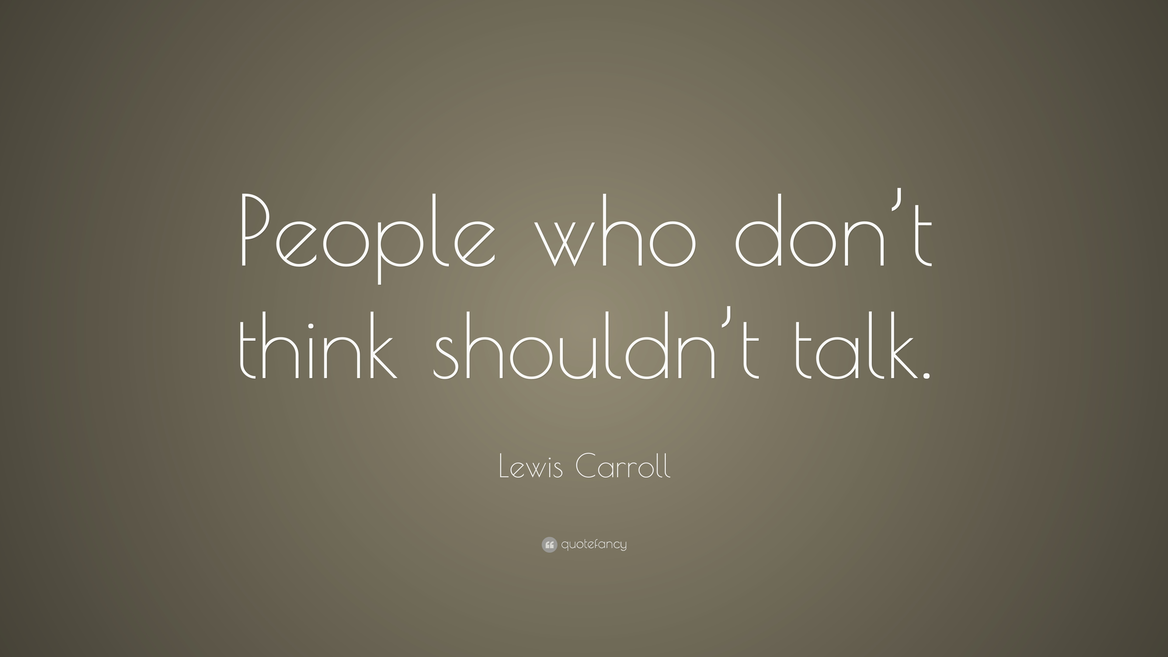 Lewis carroll people?