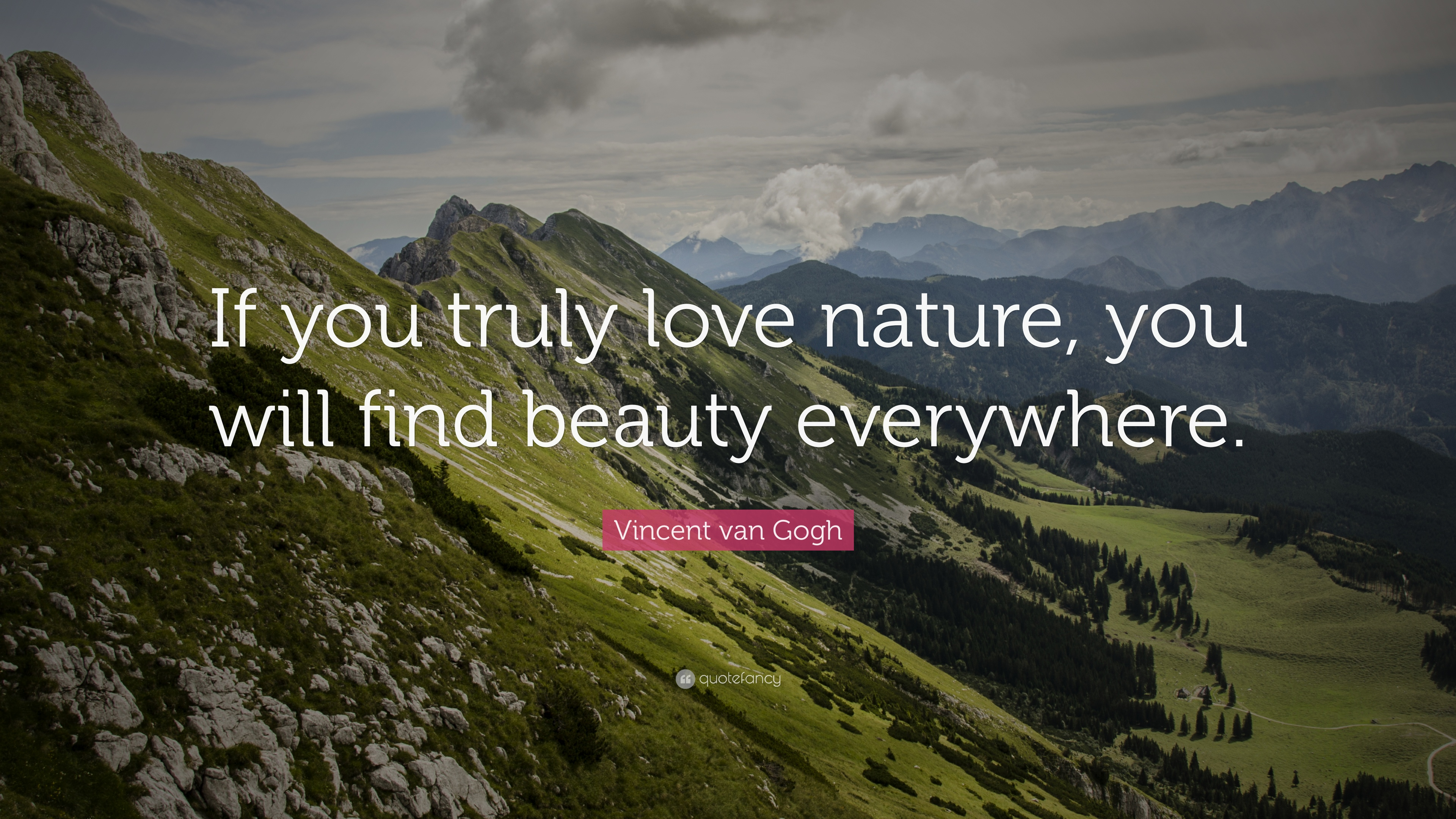 Vincent Van Gogh Quote If You Truly Love Nature You Will Find