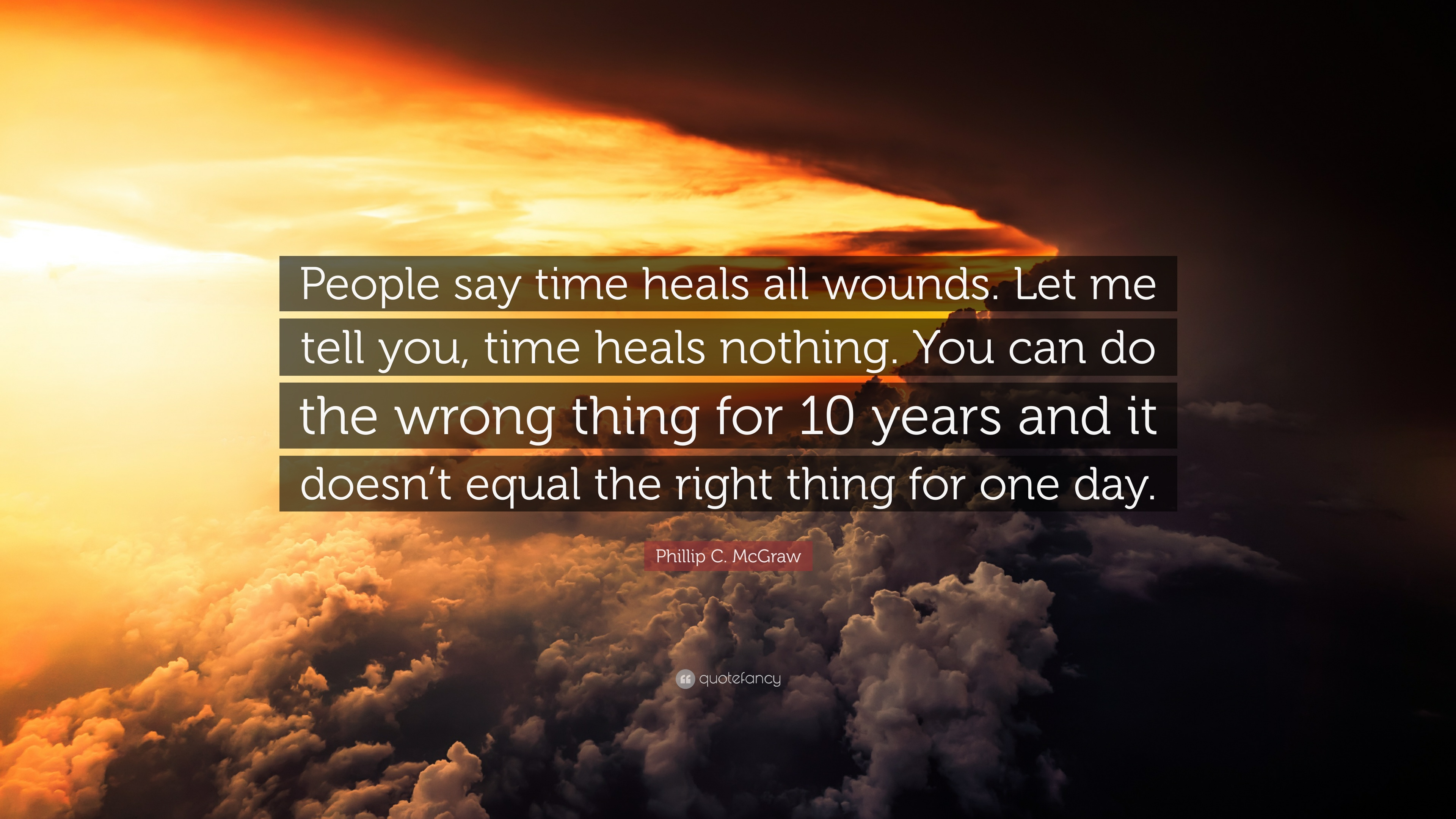 "Phillip C. McGraw Quote: ""People Say Time Heals All Wounds"