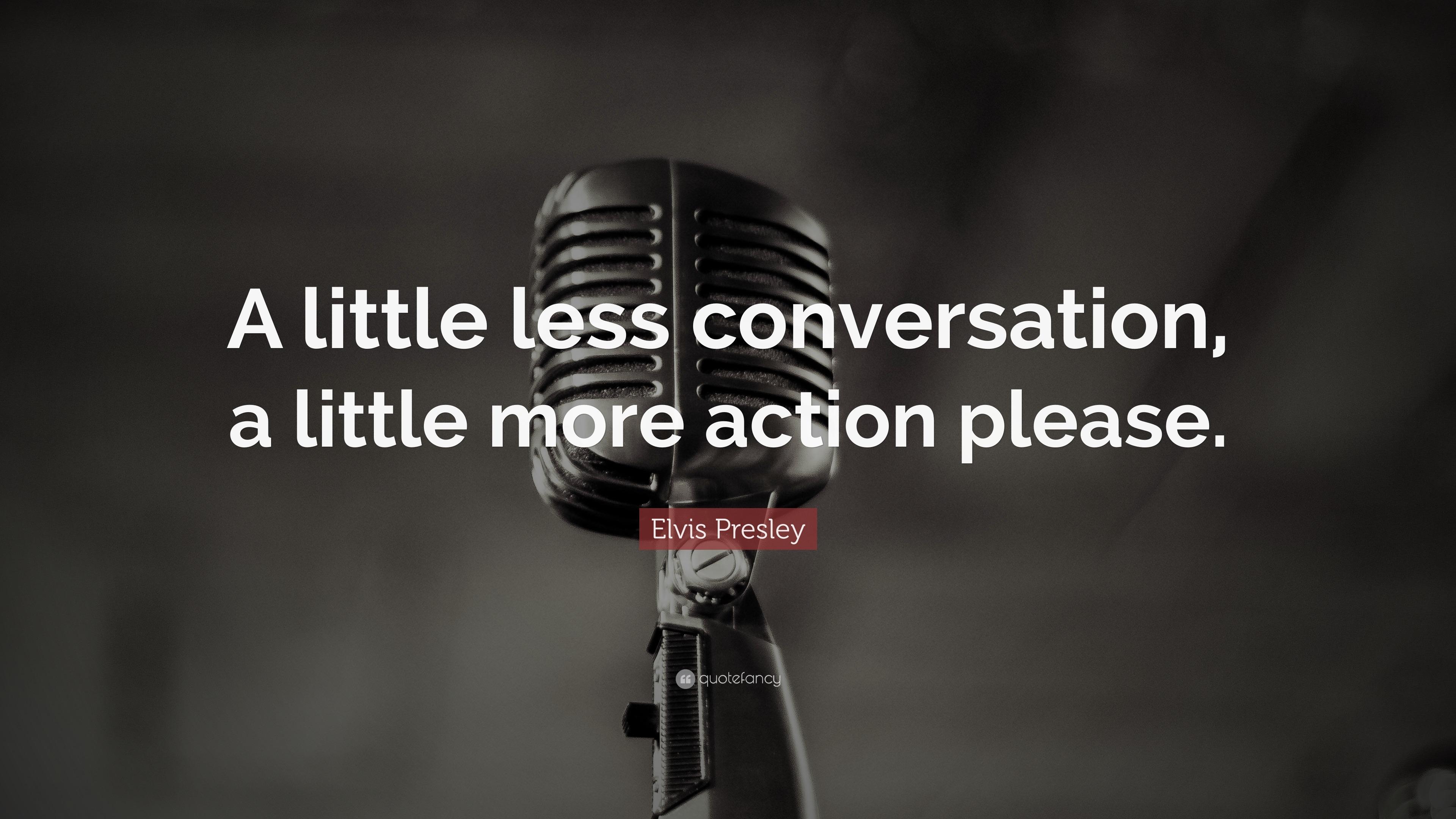 A Little Less Conversation Lyrics