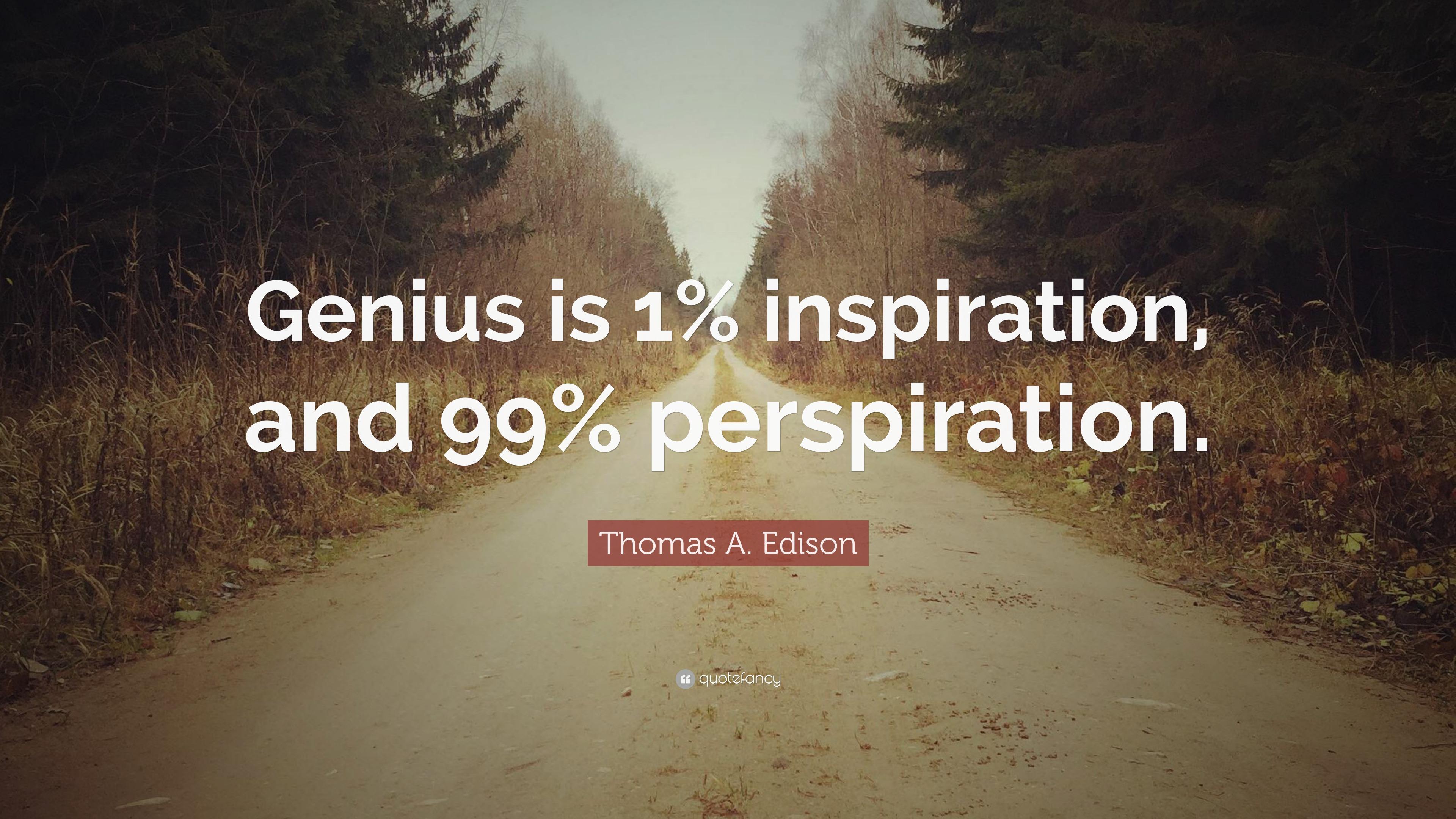 Genius 1 inspiration 99 perspiration essay