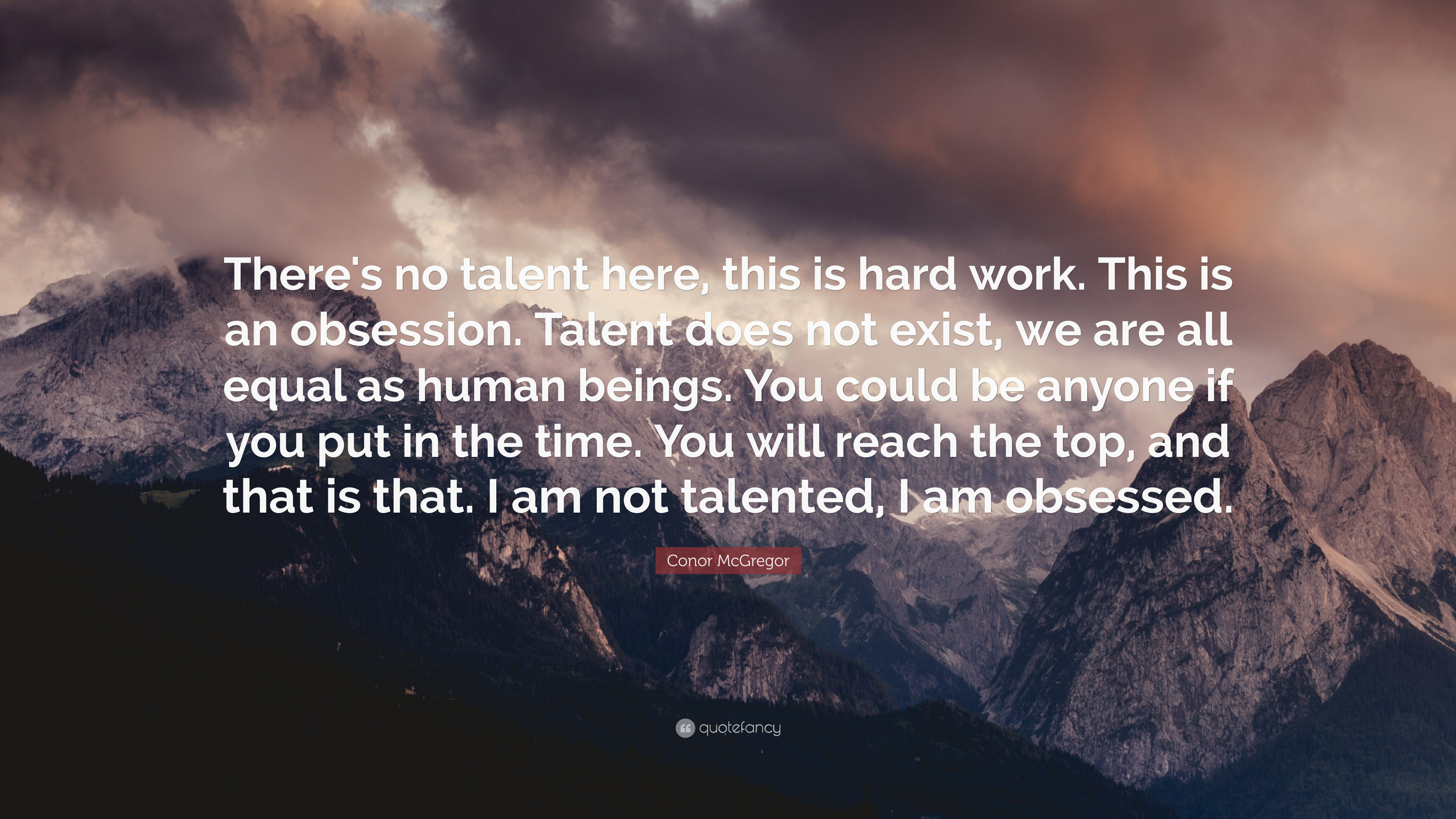 """Conor McGregor Quote: """"There's no talent here, this is ..."""