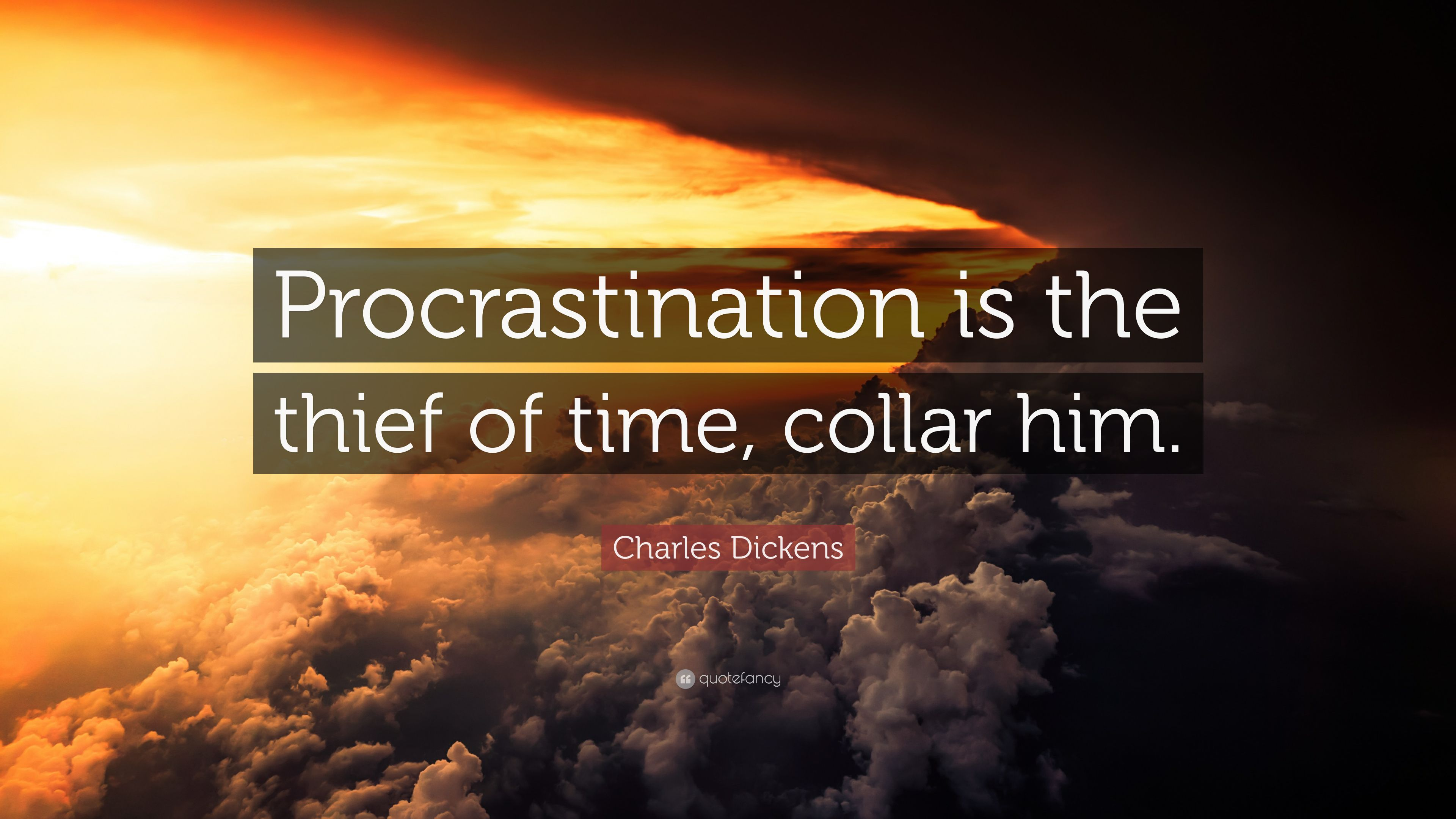 procrastination is the thief of time essay The thief of time: philosophical essays on procrastination procrastination is the thief of time from edward young's 18th-century poem night-thoughts isn't.