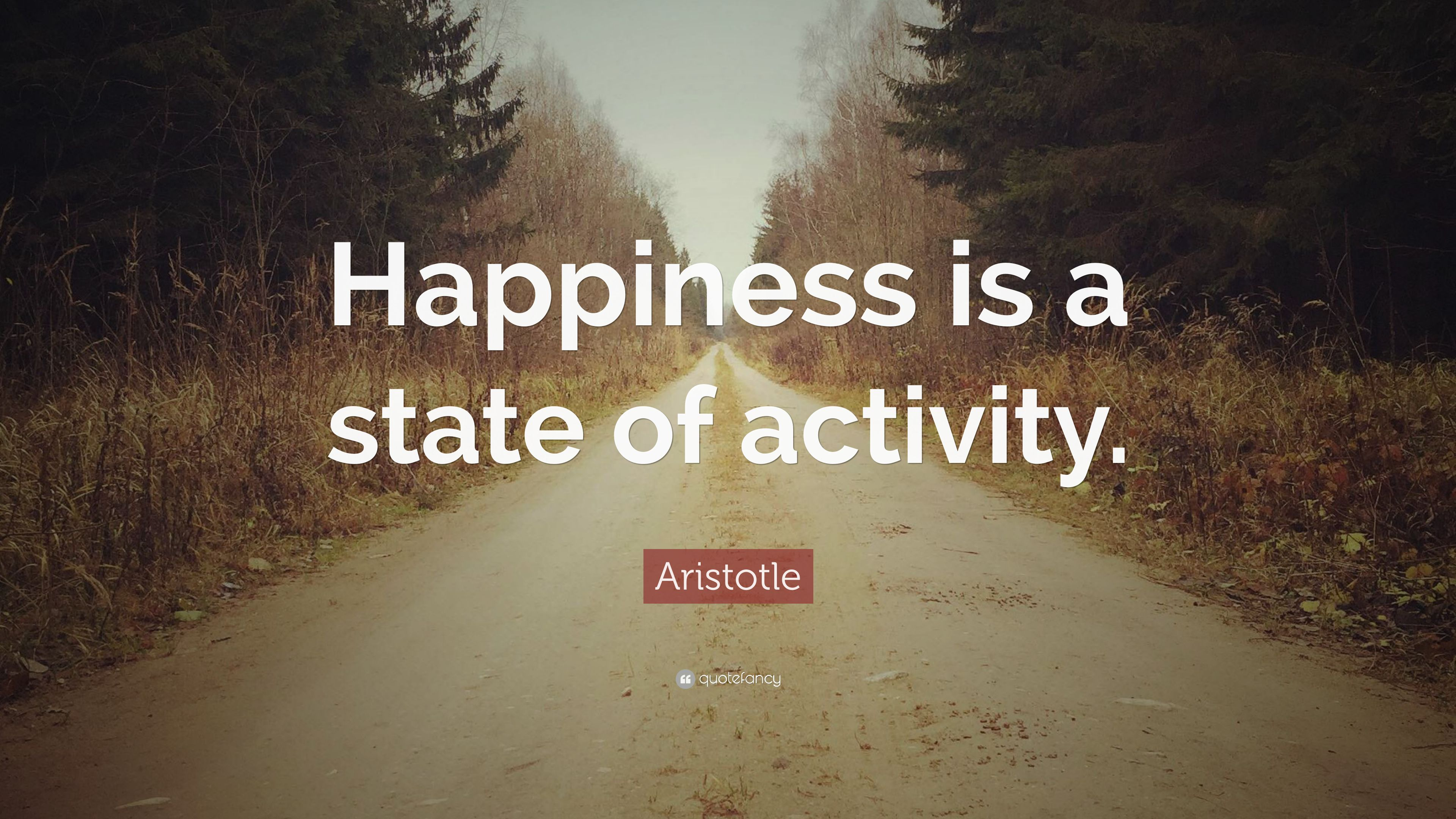 "Aristotle Quote: ""Happiness is a state of activity."" (23 ..."