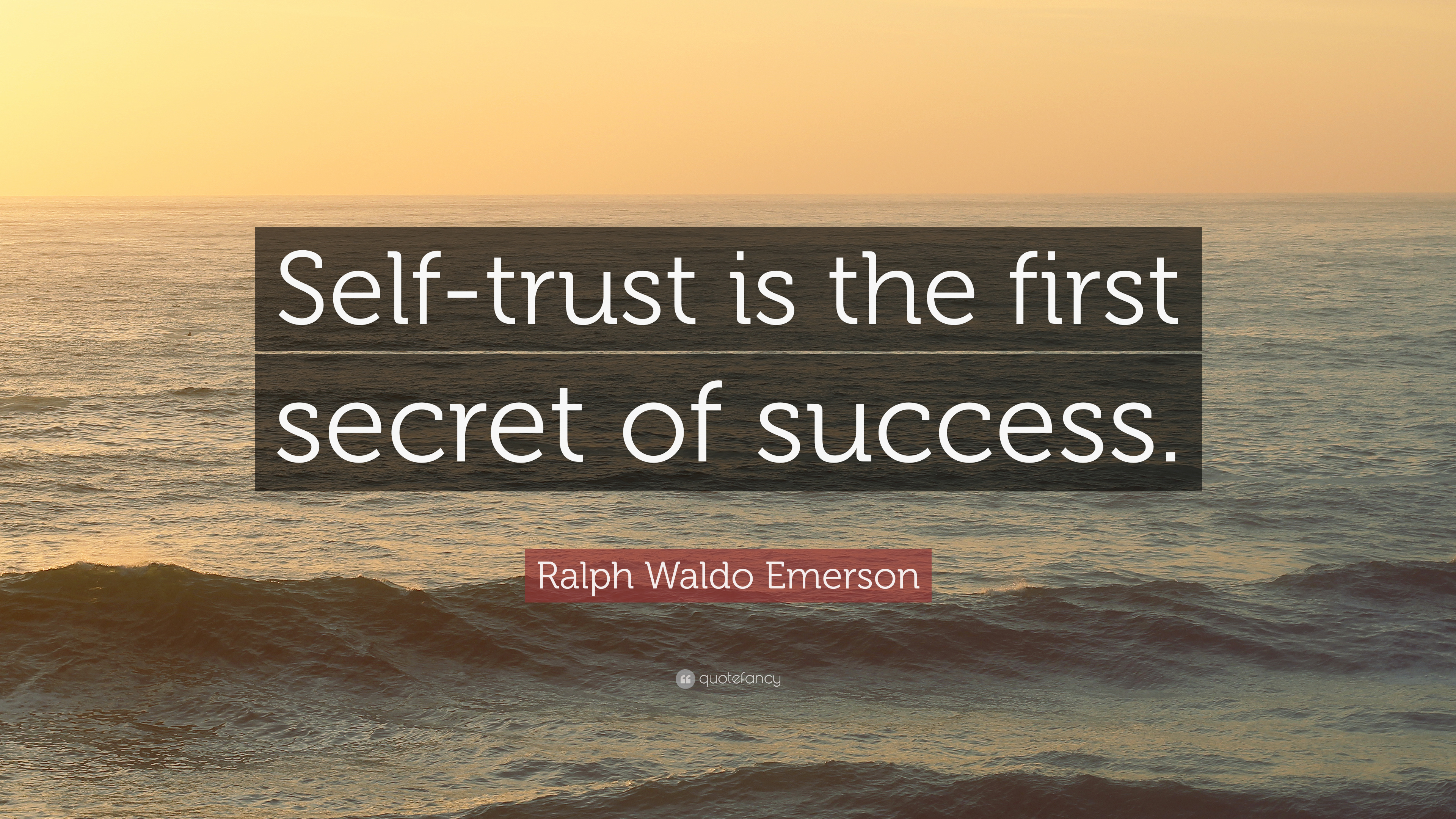 Self Trust Is The First Secret Of Success Essay