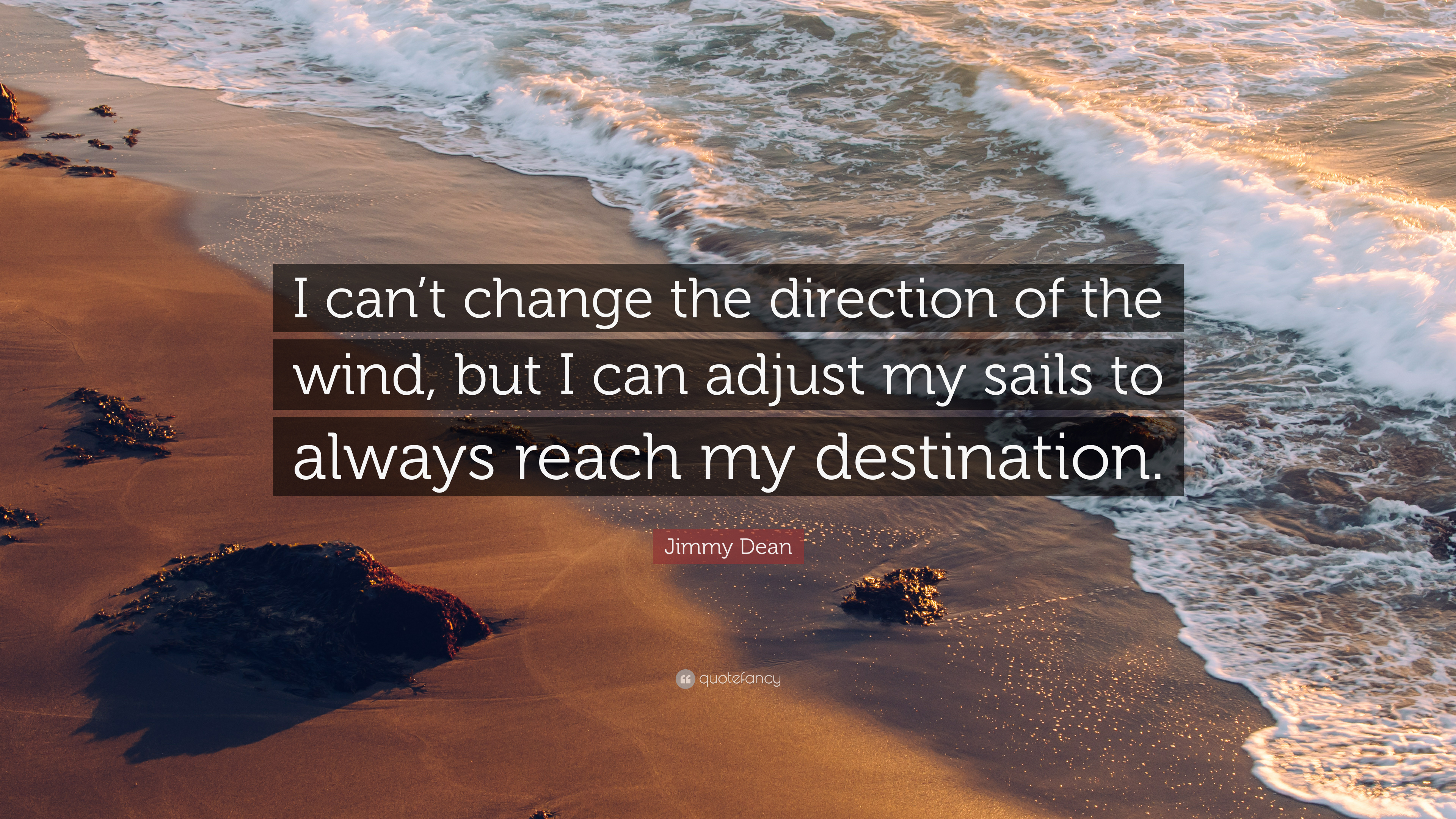 Wall Quote I can/'t change the direction of the wind James Dean