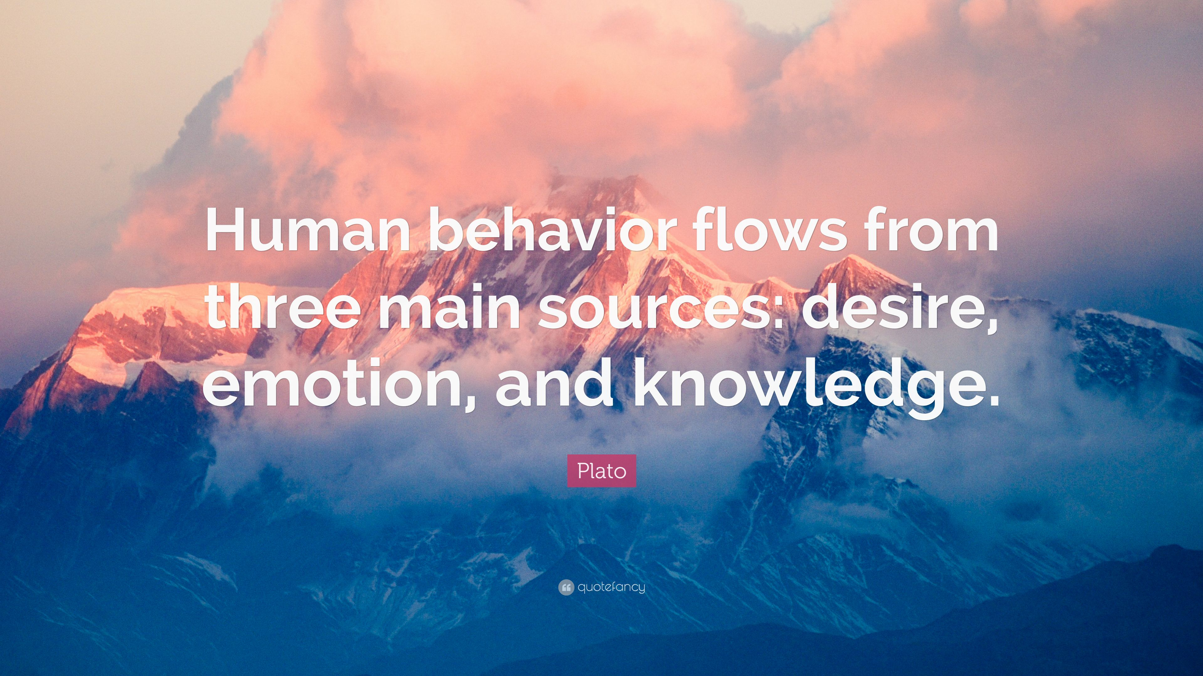 "Aristotle Human Behavior Quote Posters: Plato Quote: ""Human Behavior Flows From Three Main Sources"