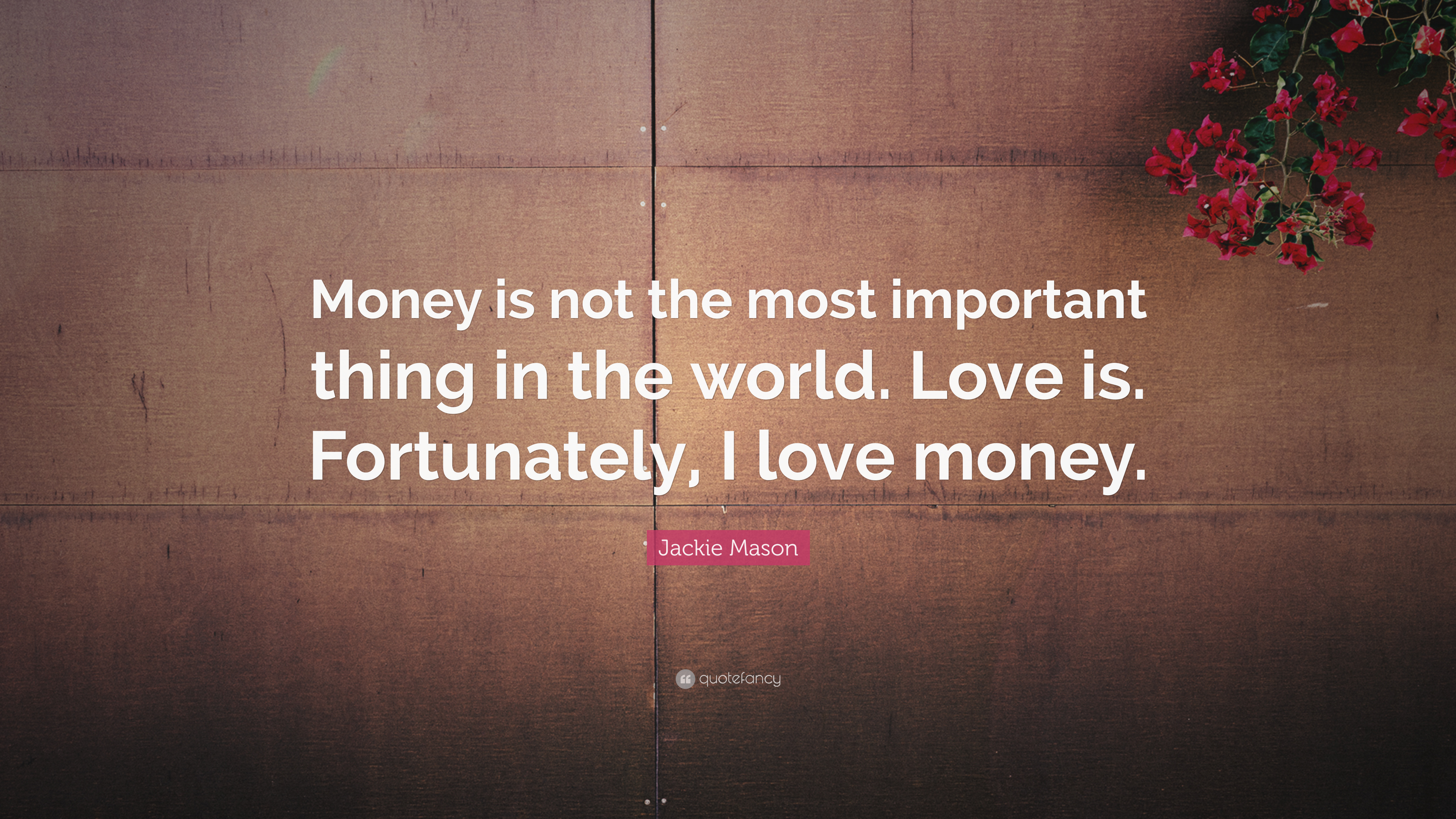 Can We Agree That Money Is Important?