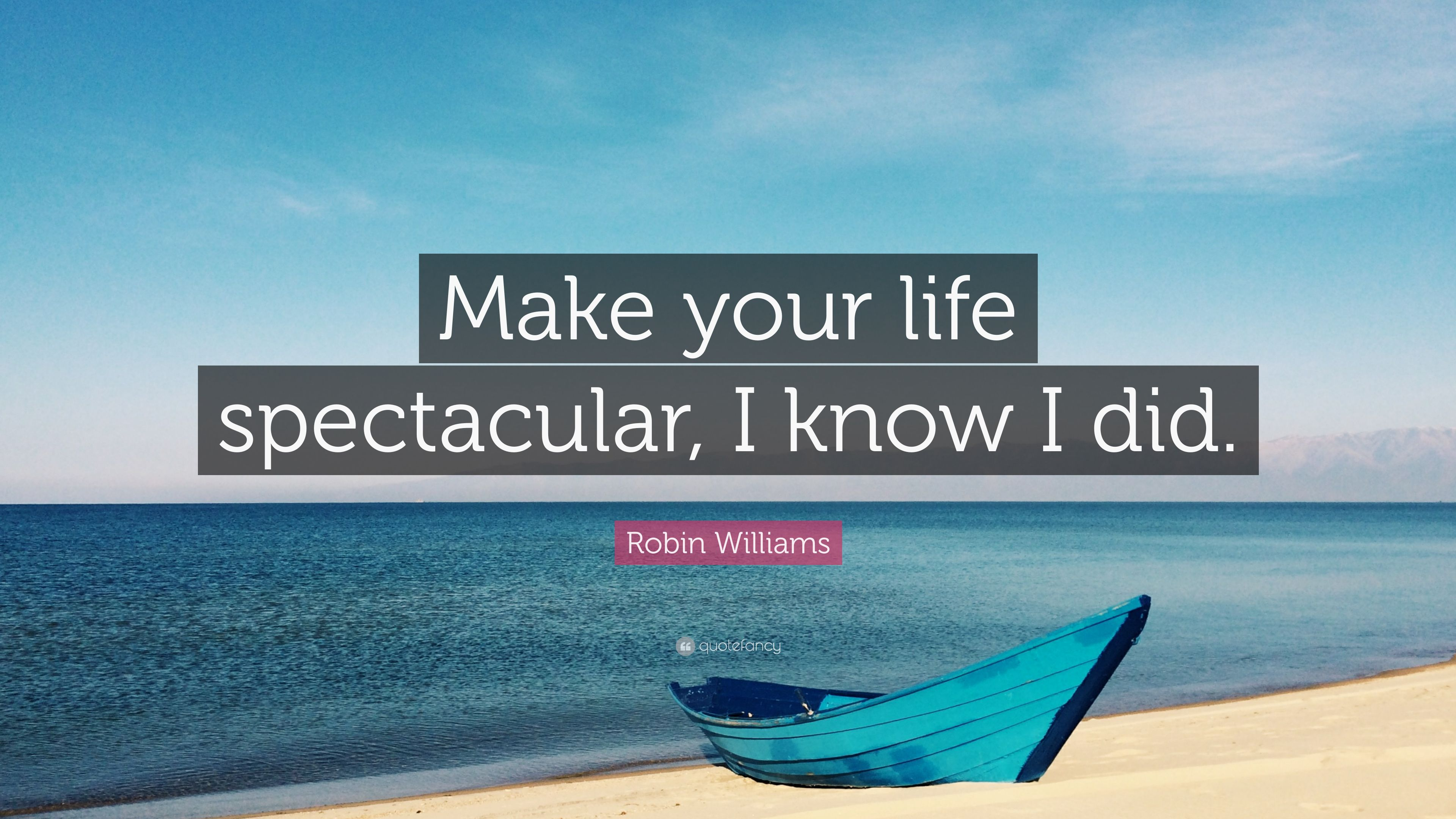 "Robin Williams Quotes About Life Robin Williams Quote ""Make Your Life Spectacular I Know I Did"
