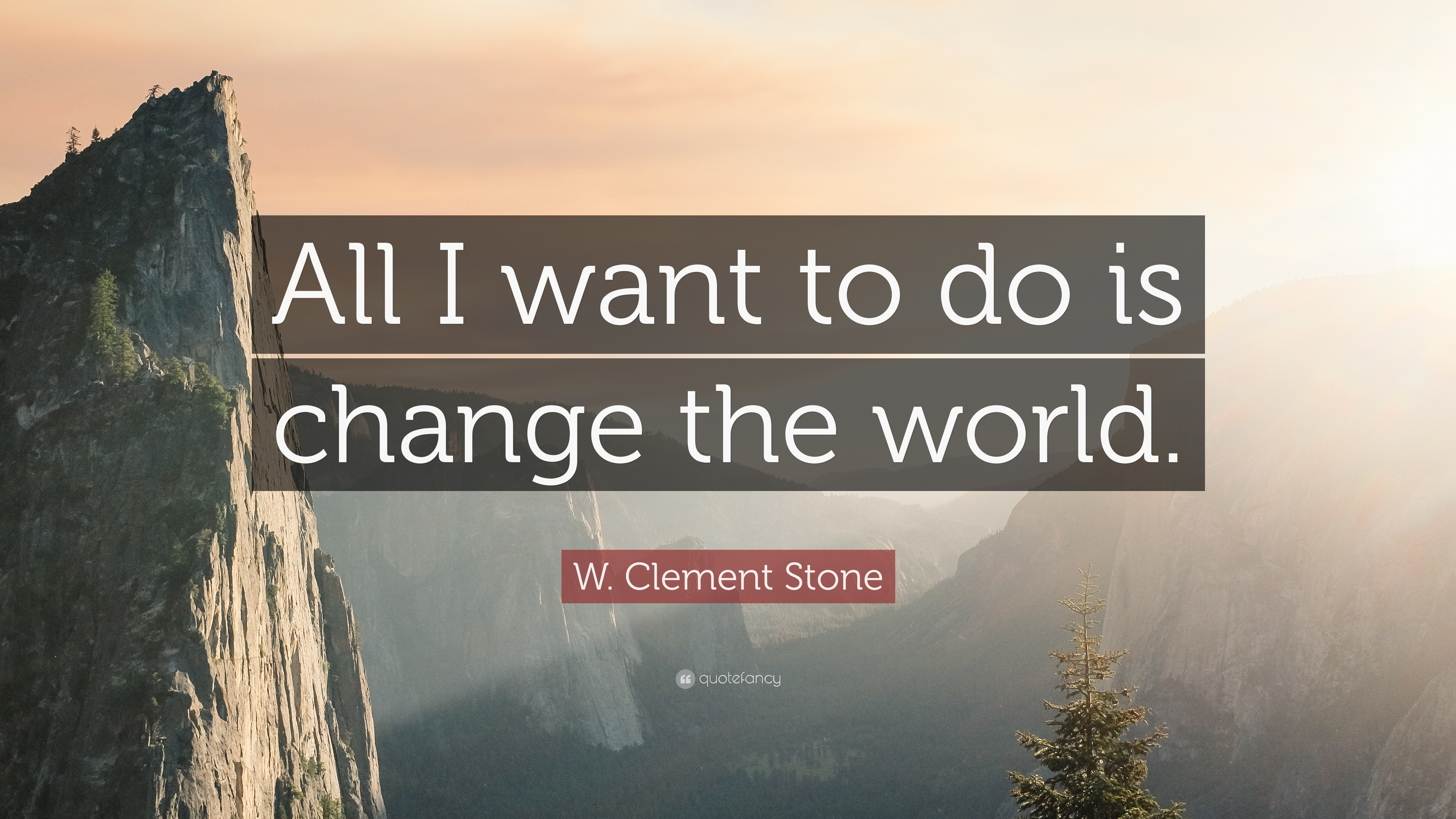 W Clement Stone Quote All I Want To Do Is Change The World 16