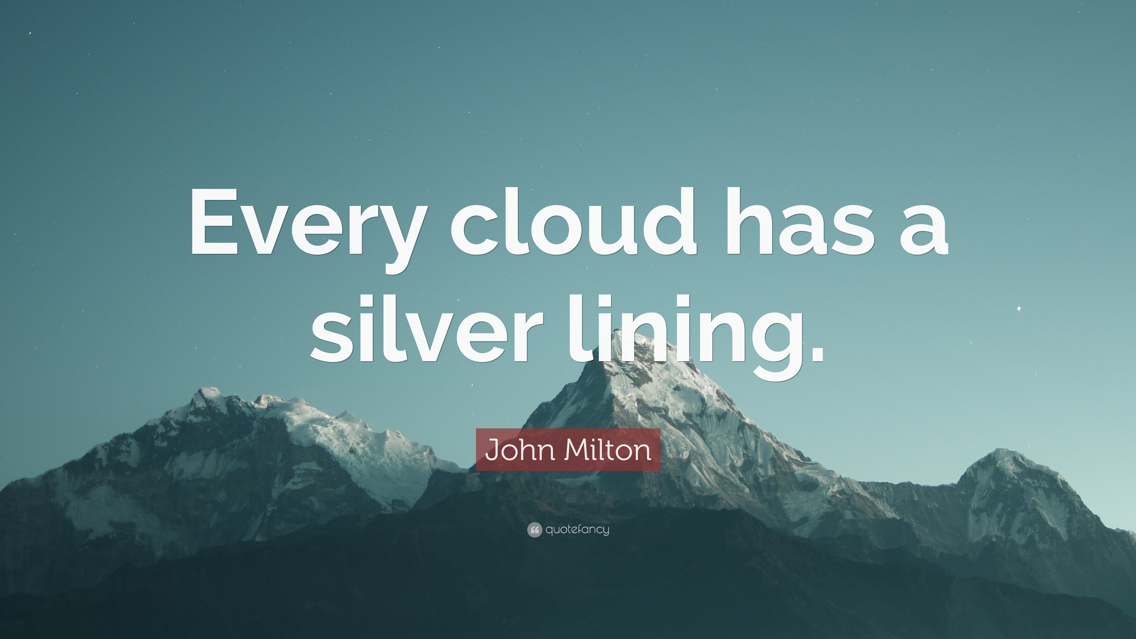 short essay on every cloud has a silver lining Idiom: every cloud has a silver lining meaning: you can find something positive in any bad situation origin: rain clouds are often dark in colour or 'gloomy'.