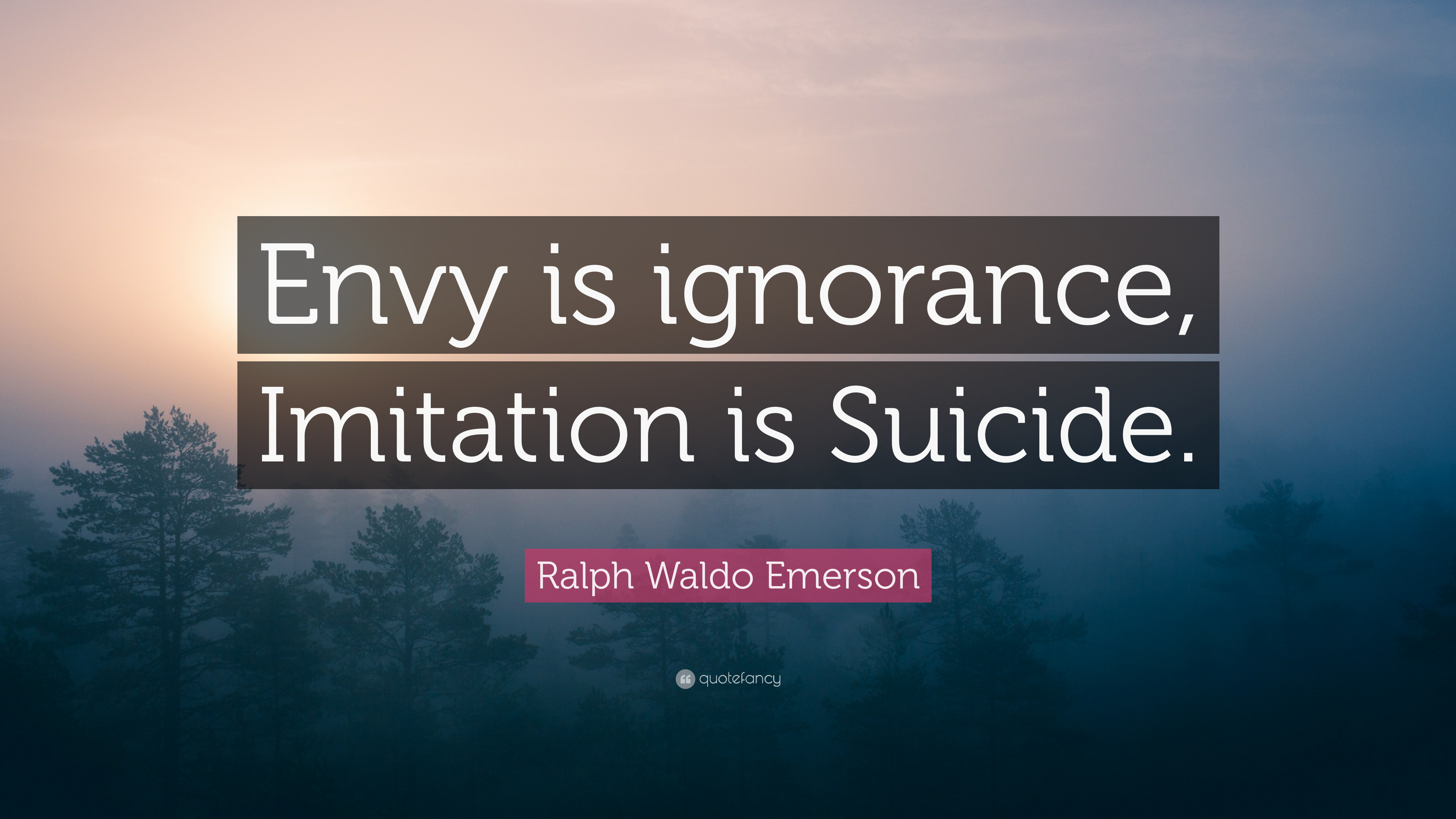 imitation is suicide