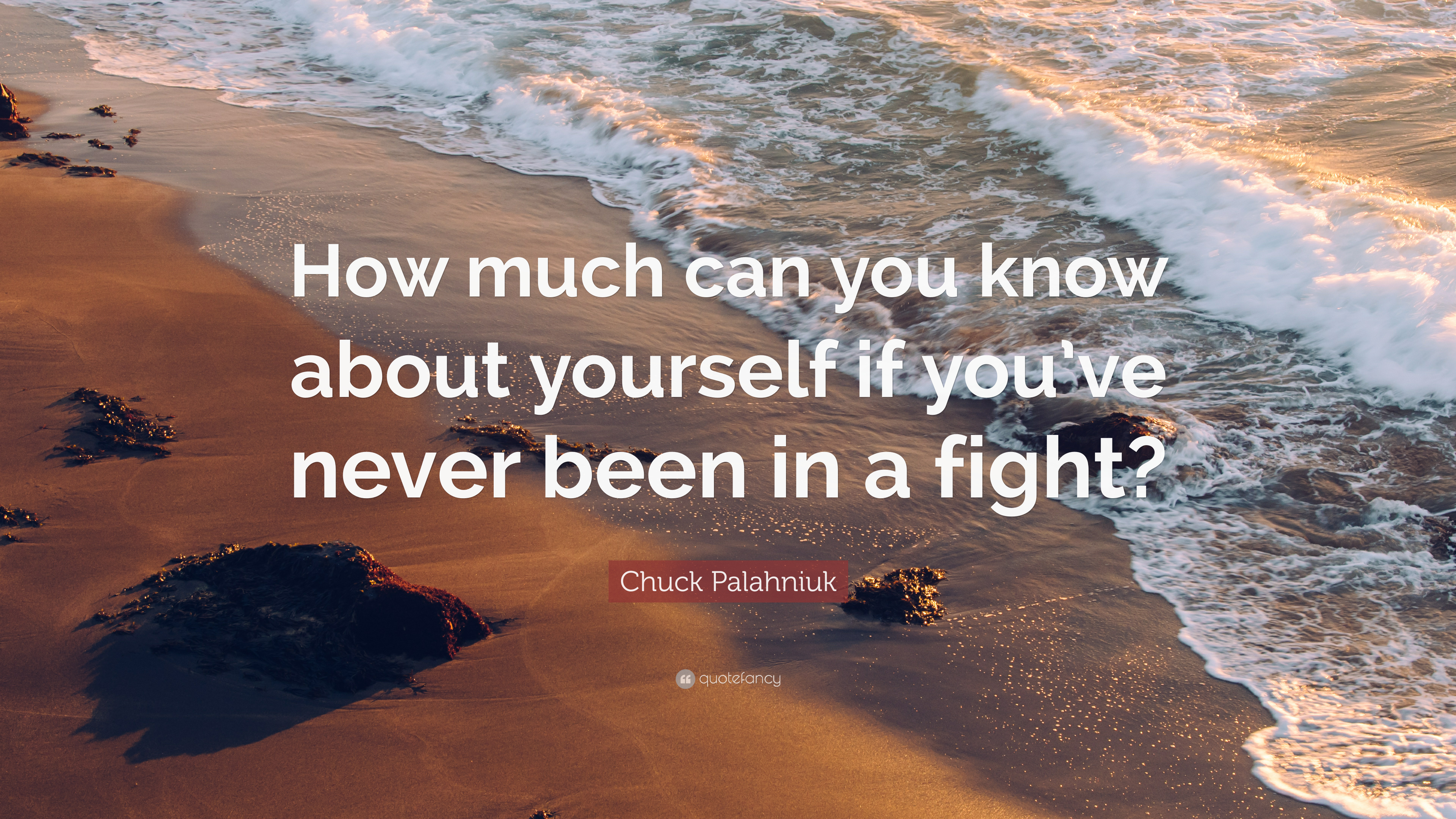 "Chuck Palahniuk Quote: ""How Much Can You Know About"
