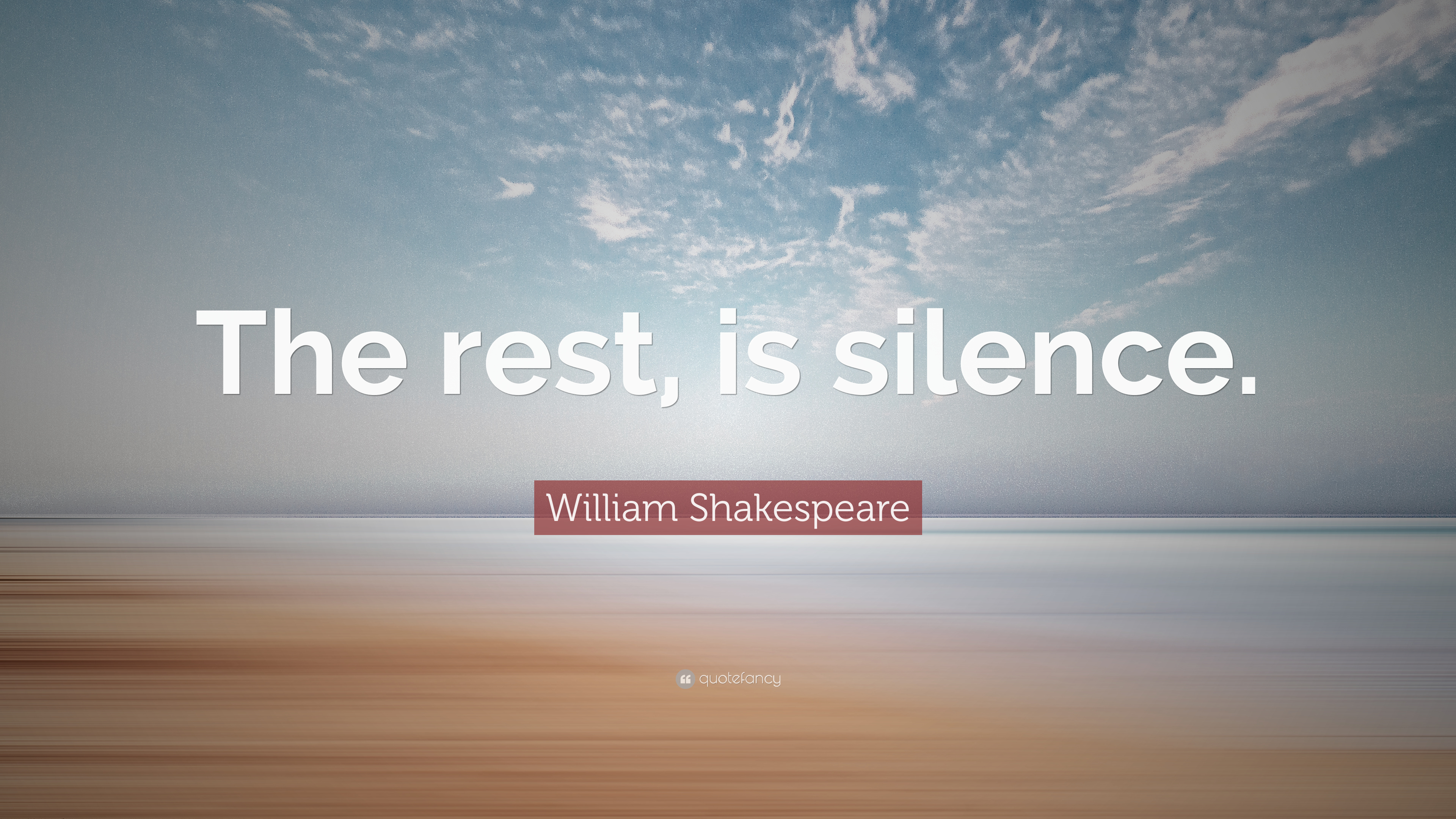 "William Shakespeare Quotes About Friendship William Shakespeare Quote ""The Rest Is Silence."" 12 Wallpapers"