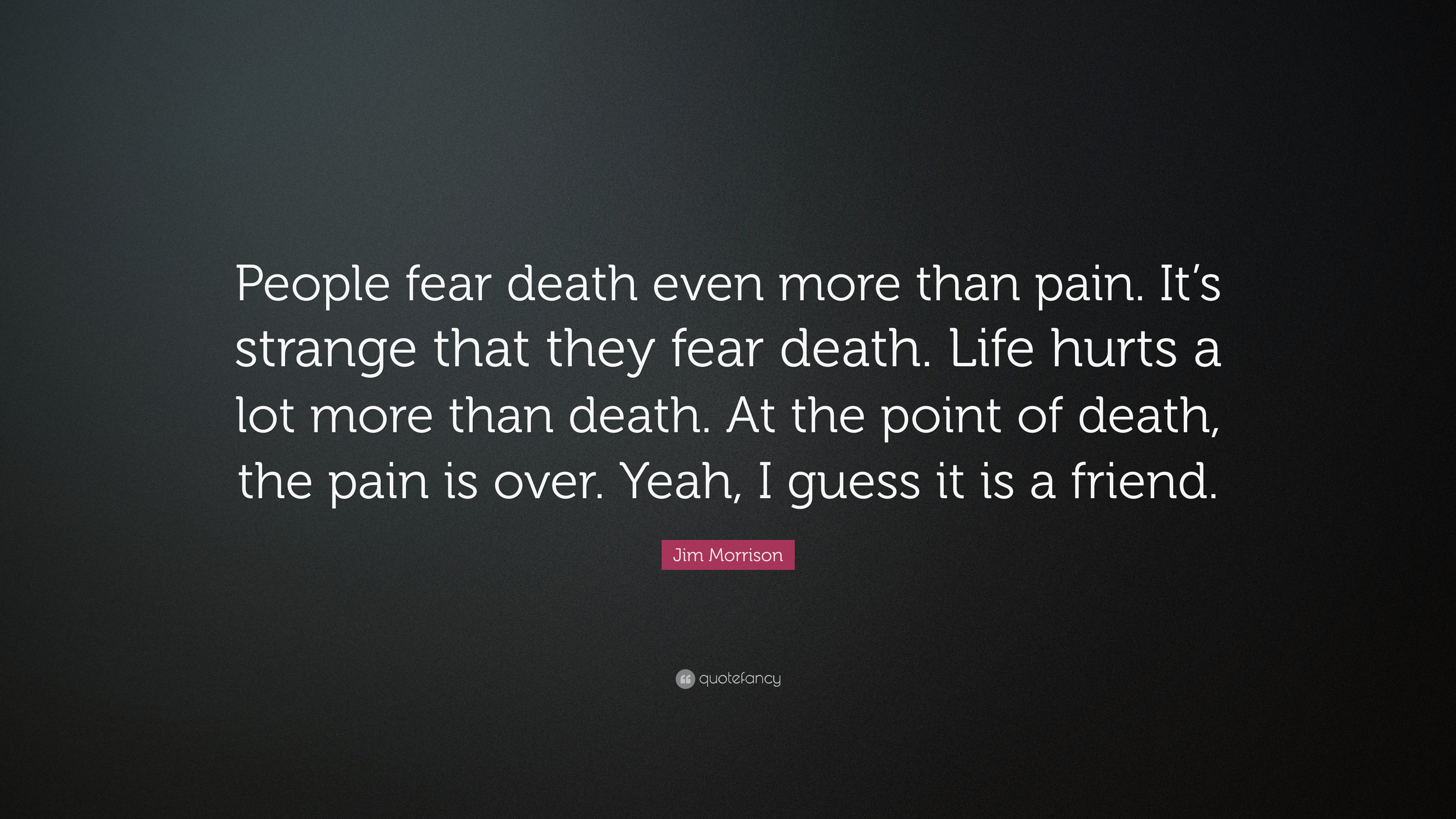 Why do people fear death 53