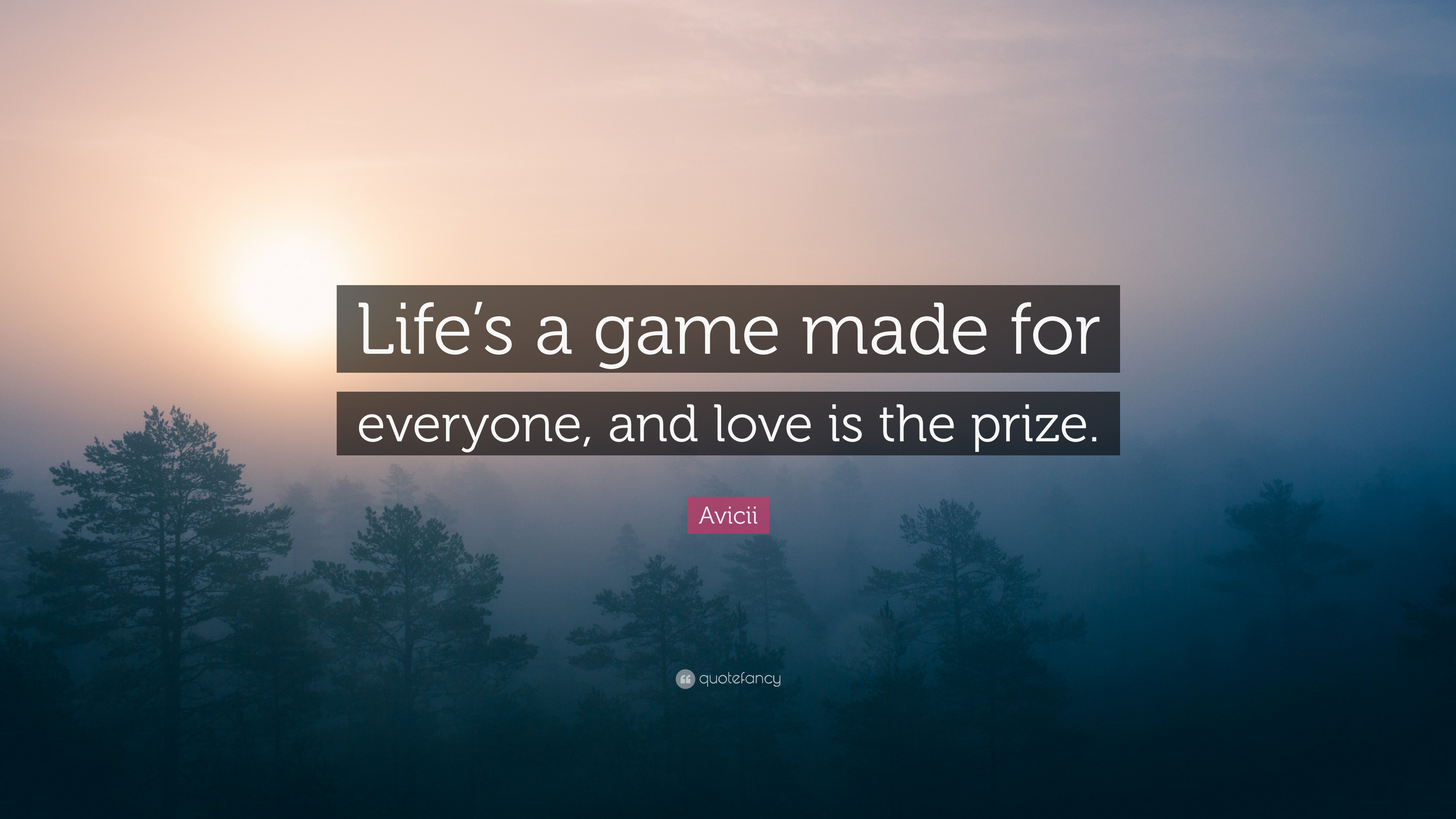 Avicii Quote Lifes A Game Made For Everyone And Love Is The