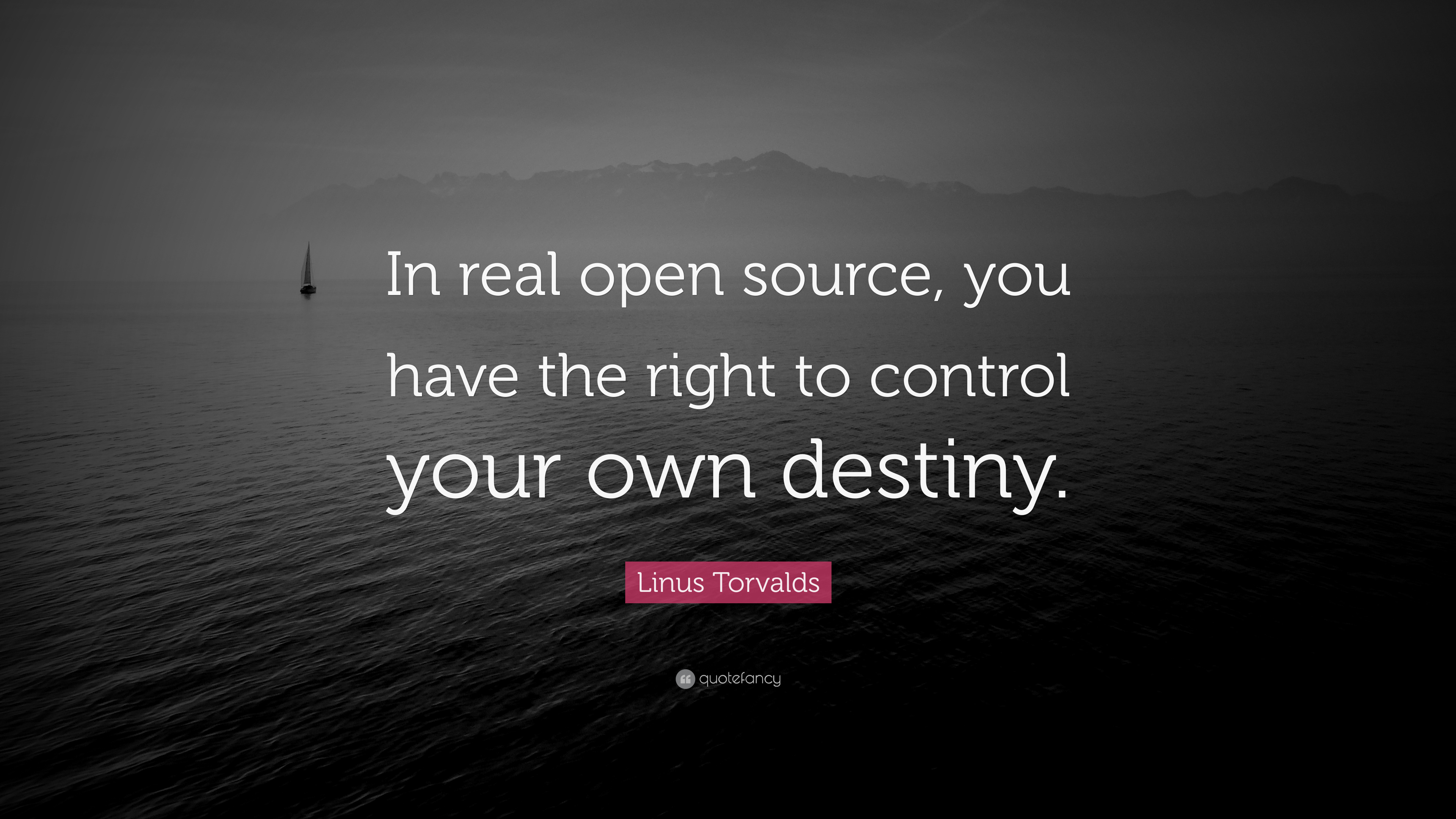 Linus Torvalds Quote In Real Open Source You Have The Right To