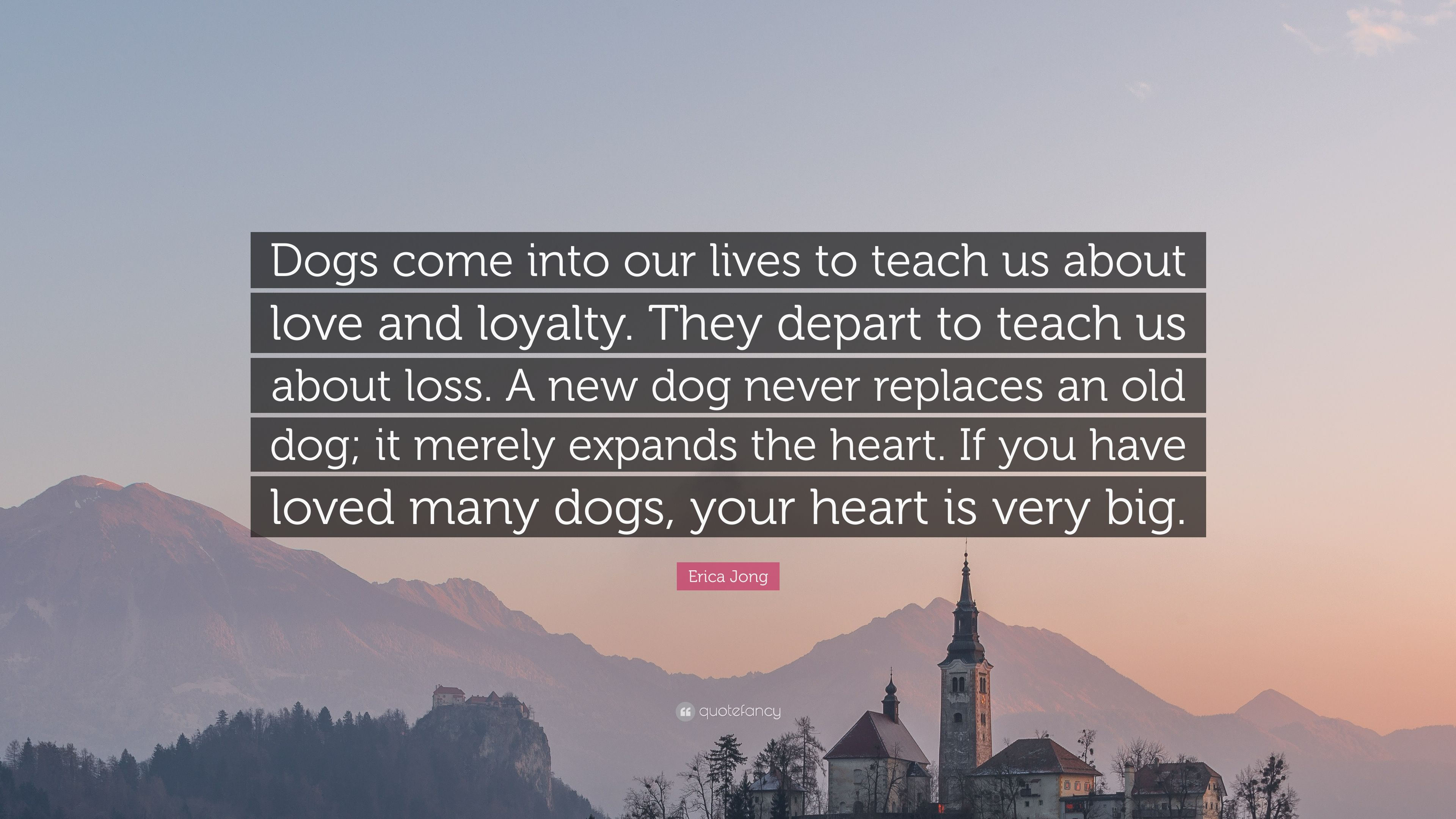 Erica Jong Quote Dogs Come Into Our Lives To Teach Us About Love