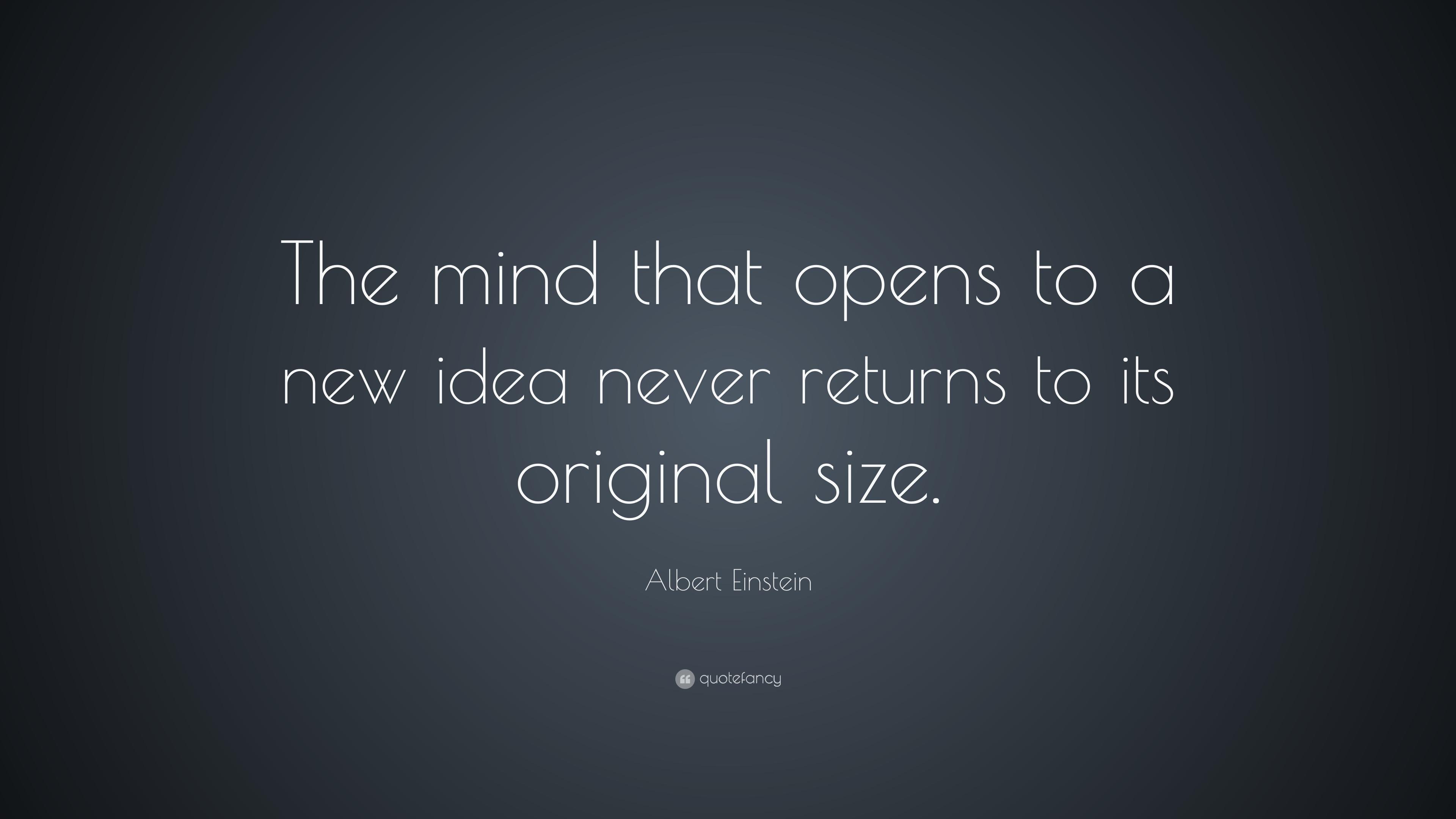 Albert Einstein Quote the Mind That