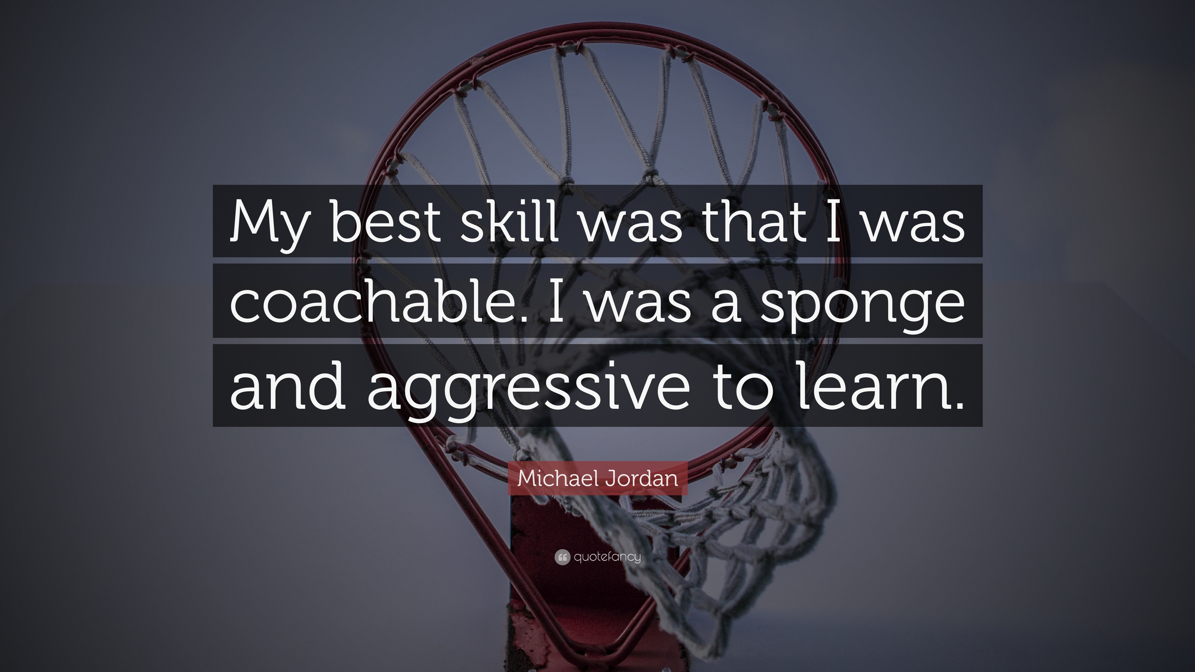 """Michael Jordan Quote: """"My best skill was that I was ..."""