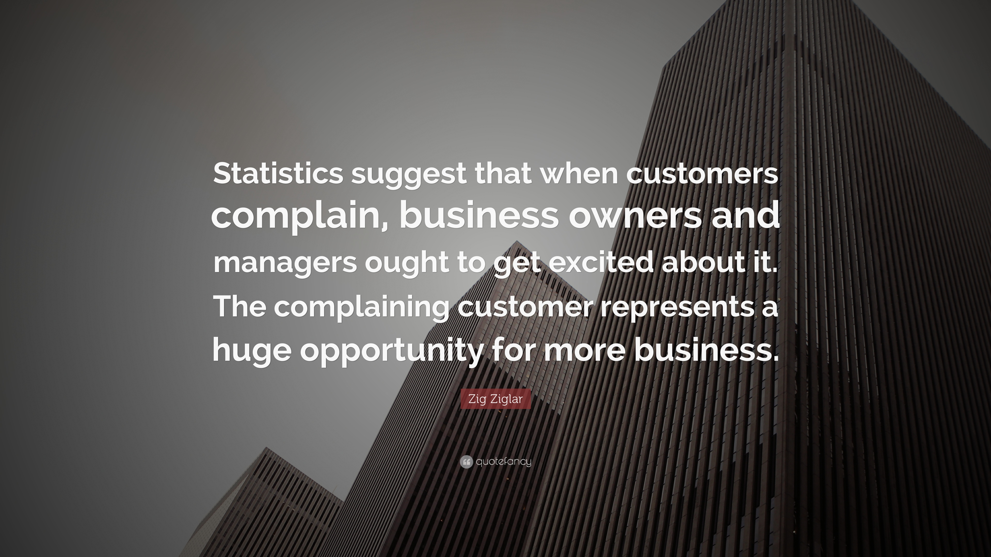 Business Quotes Statistics Suggest That When Customers Complain Owners And Managers Ought