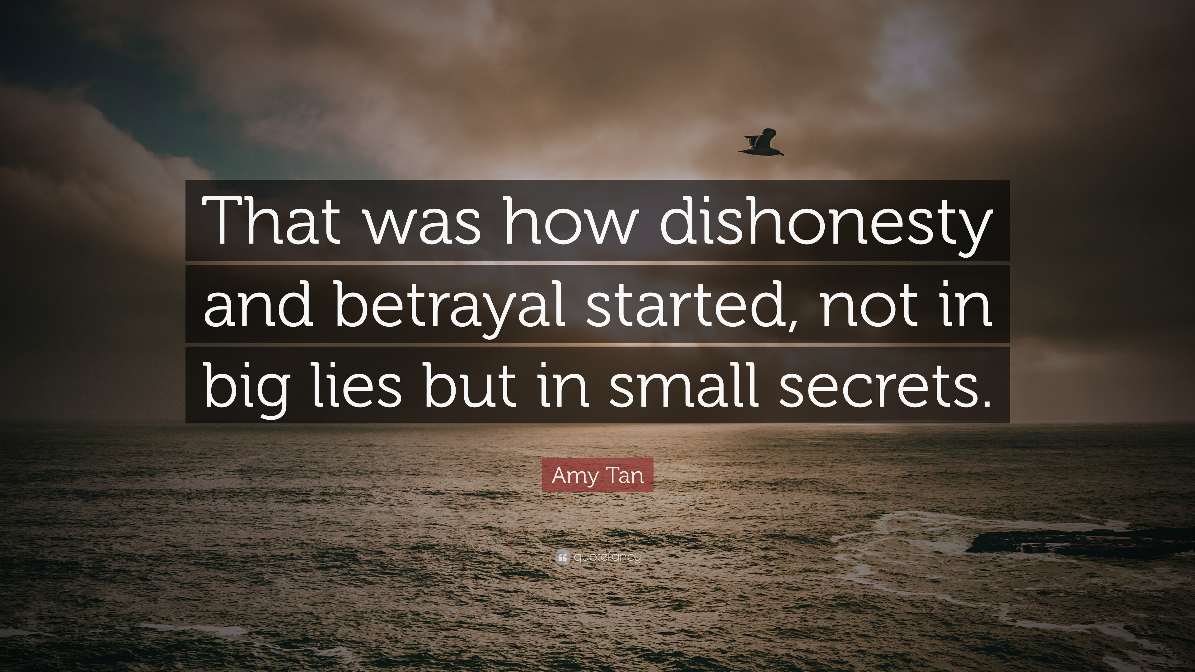 Amy Tan Quote: That was how dishonesty and betrayal