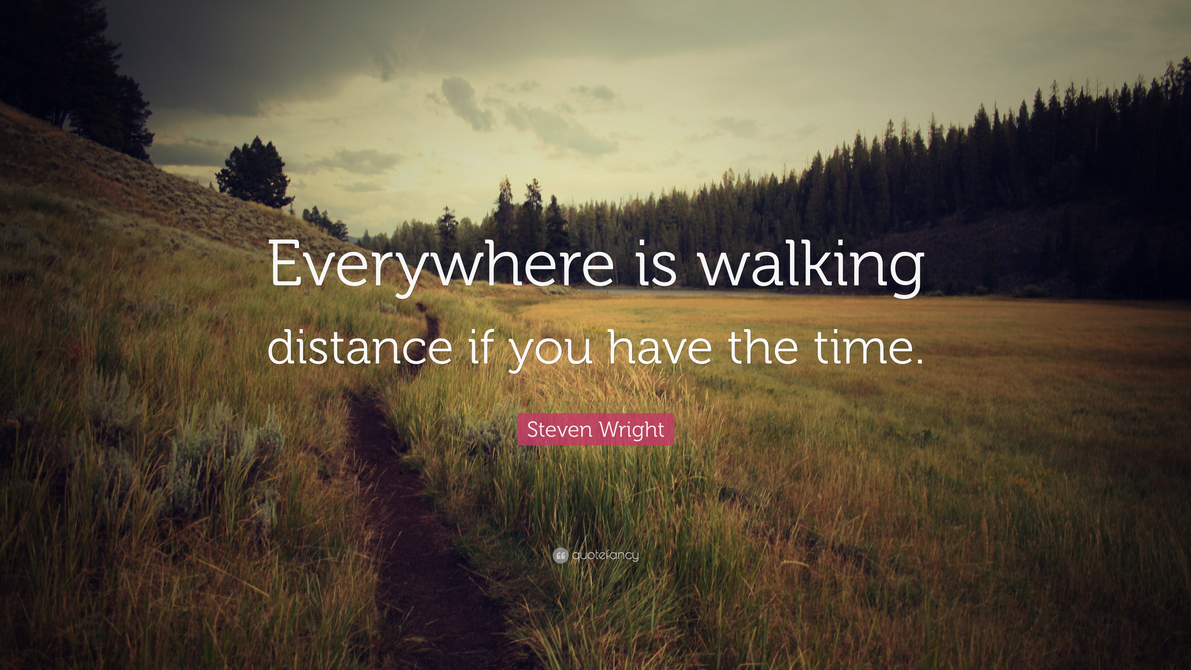 """Steven Wright Quote: """"Everywhere Is Walking Distance If"""