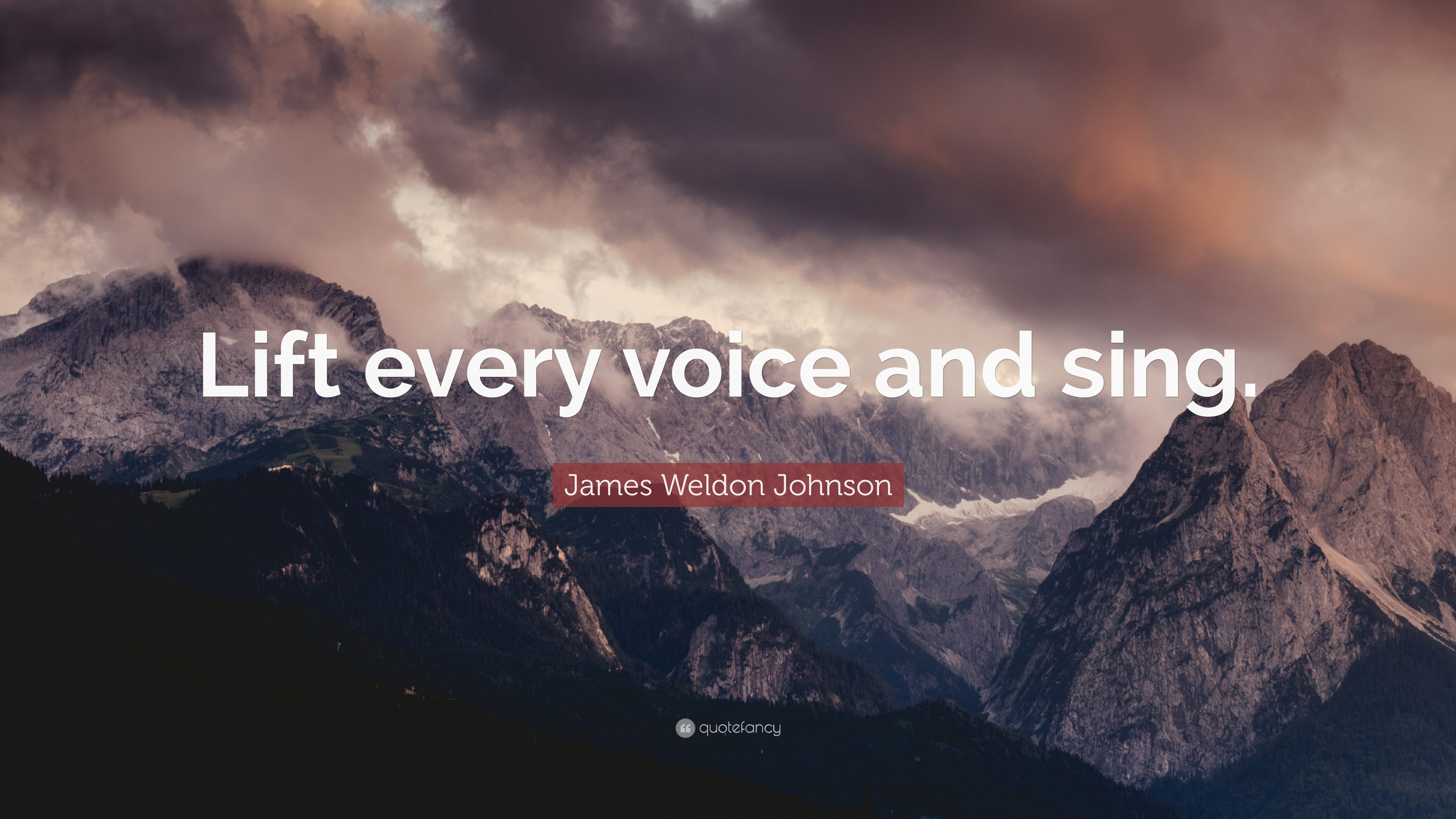 an analysis of lift every voice and sing by james weldon johnson Brief summary of the poem lift every voice and sing  and sing by james  weldon johnson  the first stanza of the poem focuses on singing and music.